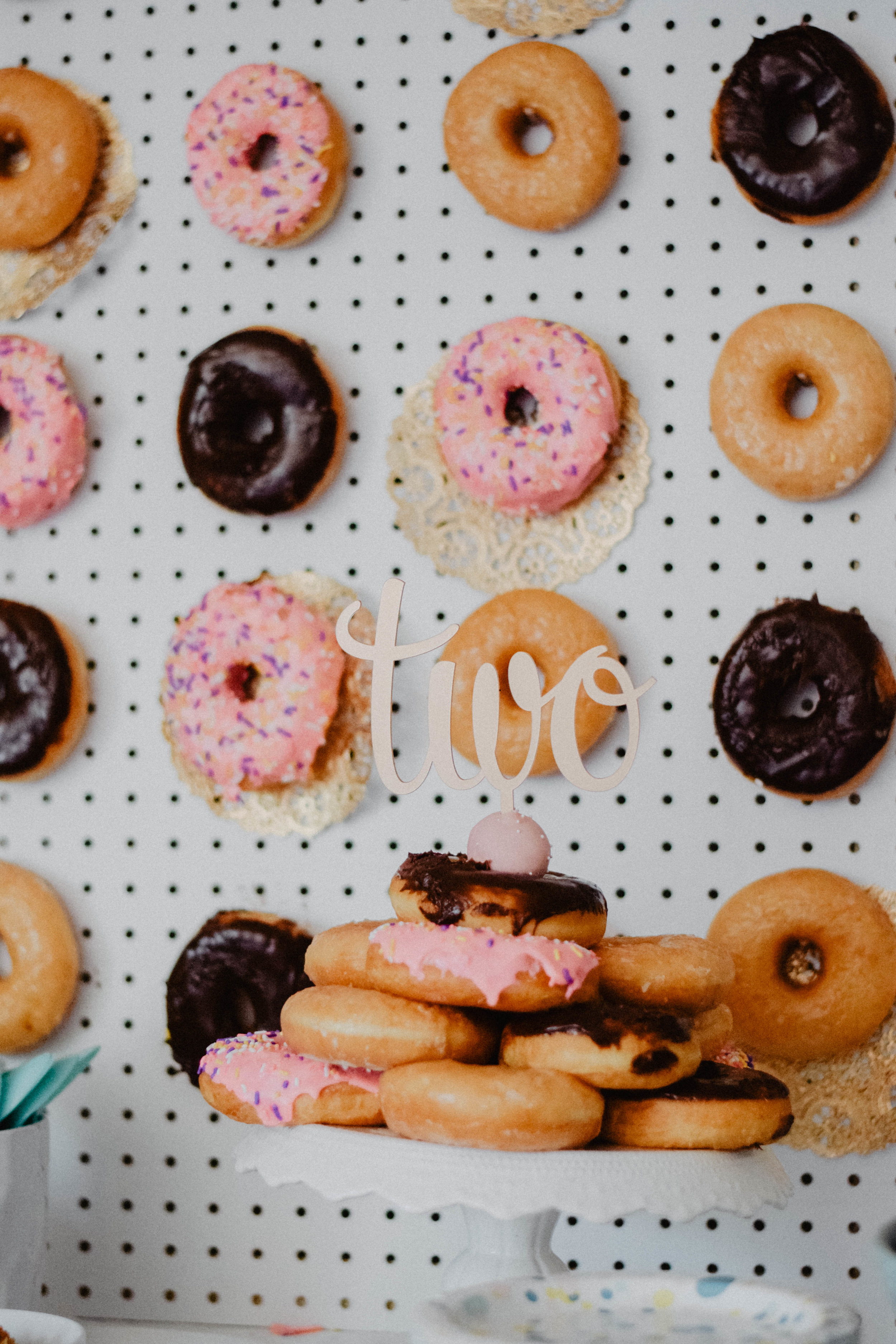 Doggies + Donuts -- Ava's Donut Themed 2nd Birthday Party - Rent Puppies for Birthday Party - The Overwhelmed Mommy