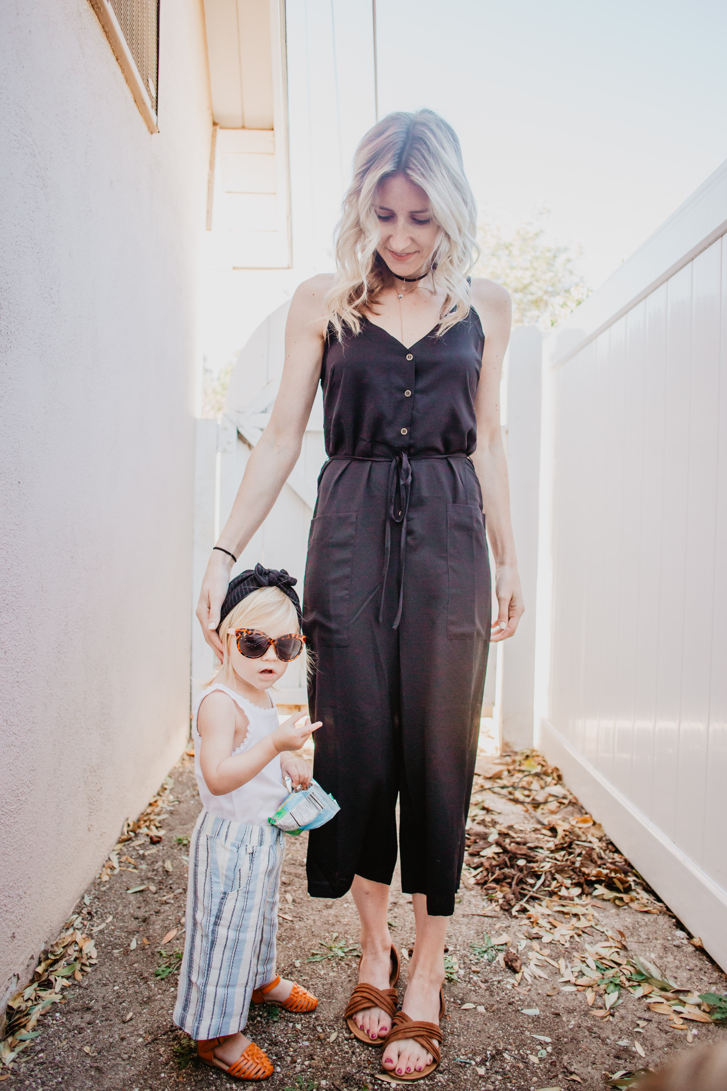 Cute Spring Kids Clothes - Kids Gaucho Pants - Black Women's Romper - The Overwhelmed Mpmmy
