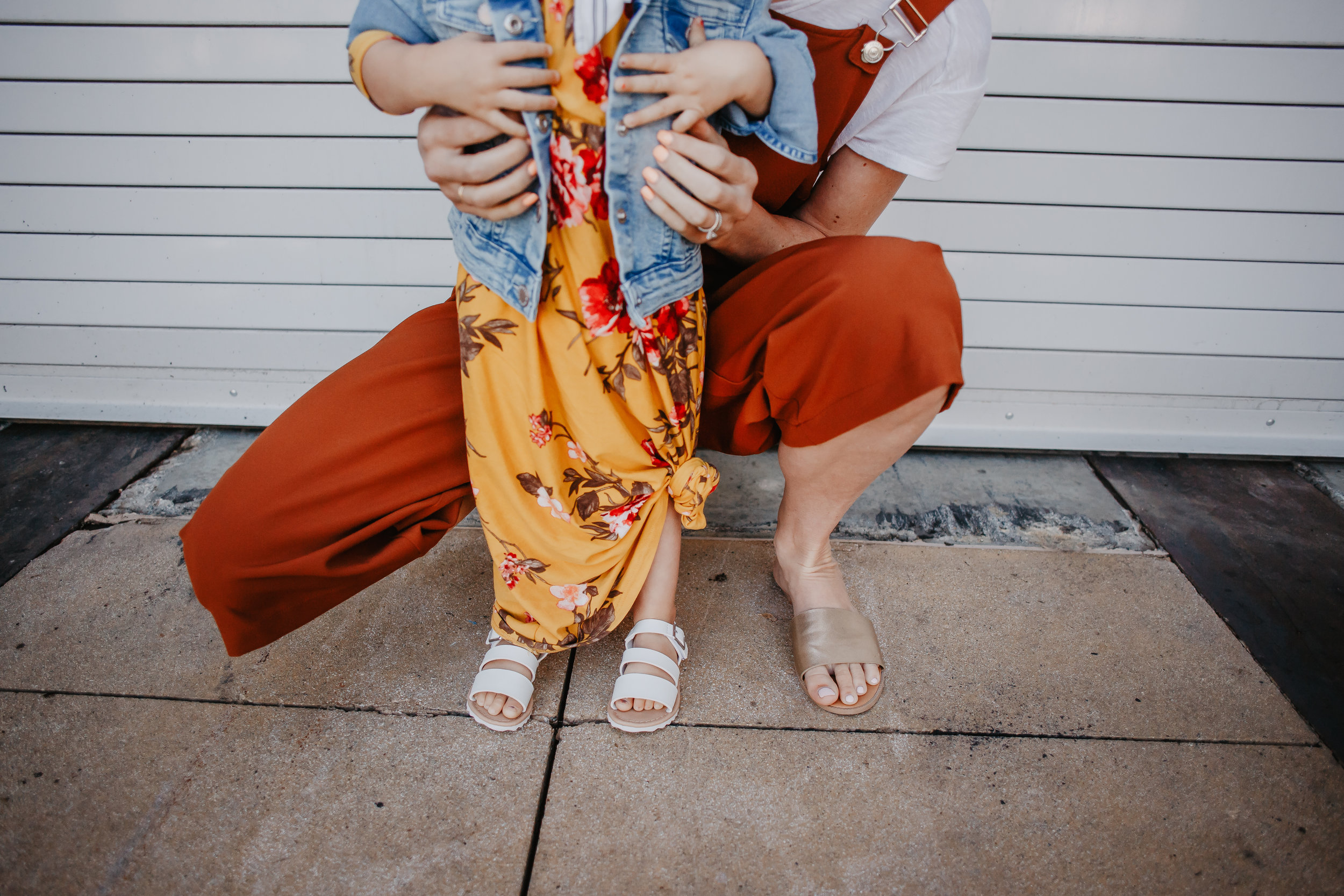 Cute Spring Kids Clothes - Affordable Women's Fashion - Orange Women's Jumpsuit - Yellow Floral Kids Maxi Dress