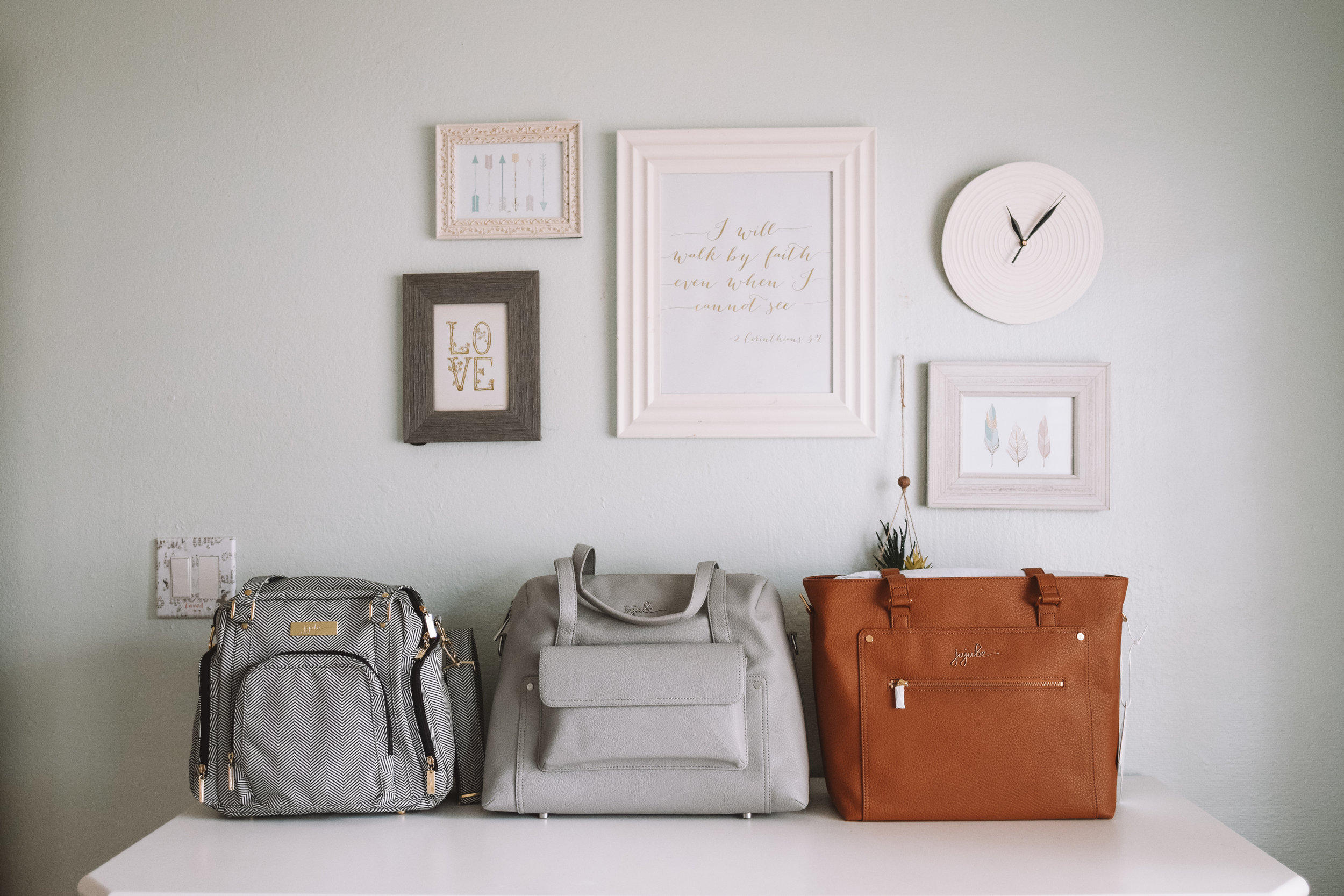 JuJuBe Ever Collection - Leather Diaper Bags