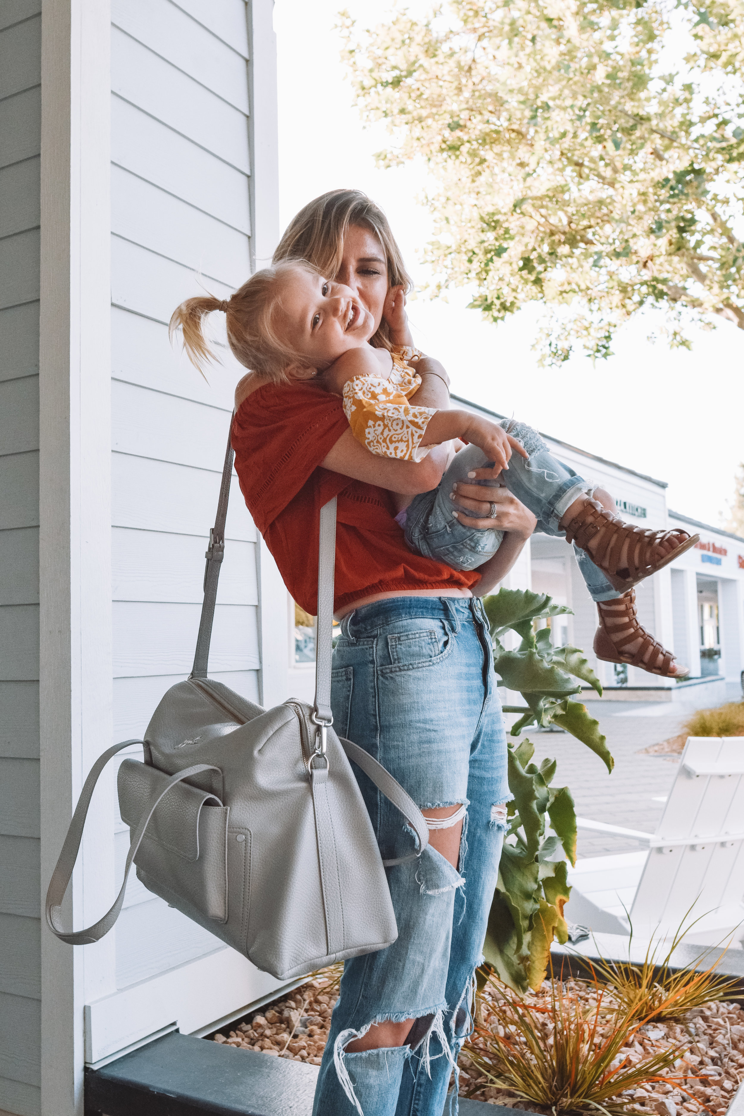 Wherever Weekender Stone - JuJuBe Ever Collection - Leather Diaper Bags