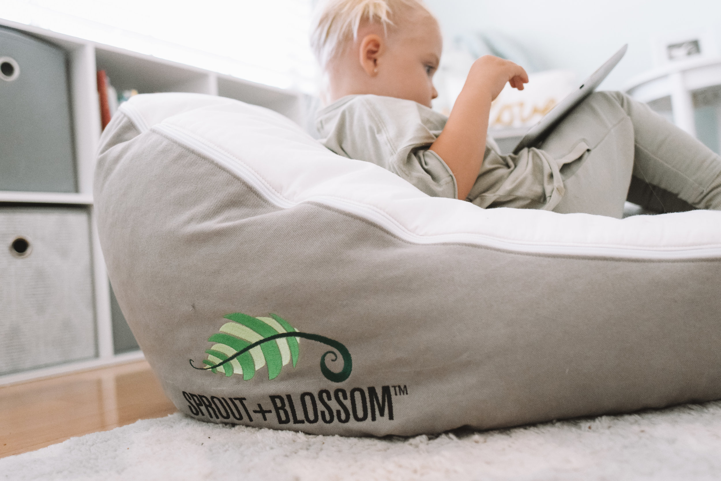 Baby-Toddler Lounger - Product for Babies with Reflux - Sprout Blossom -- The Overwhelmed Mommy Blogger