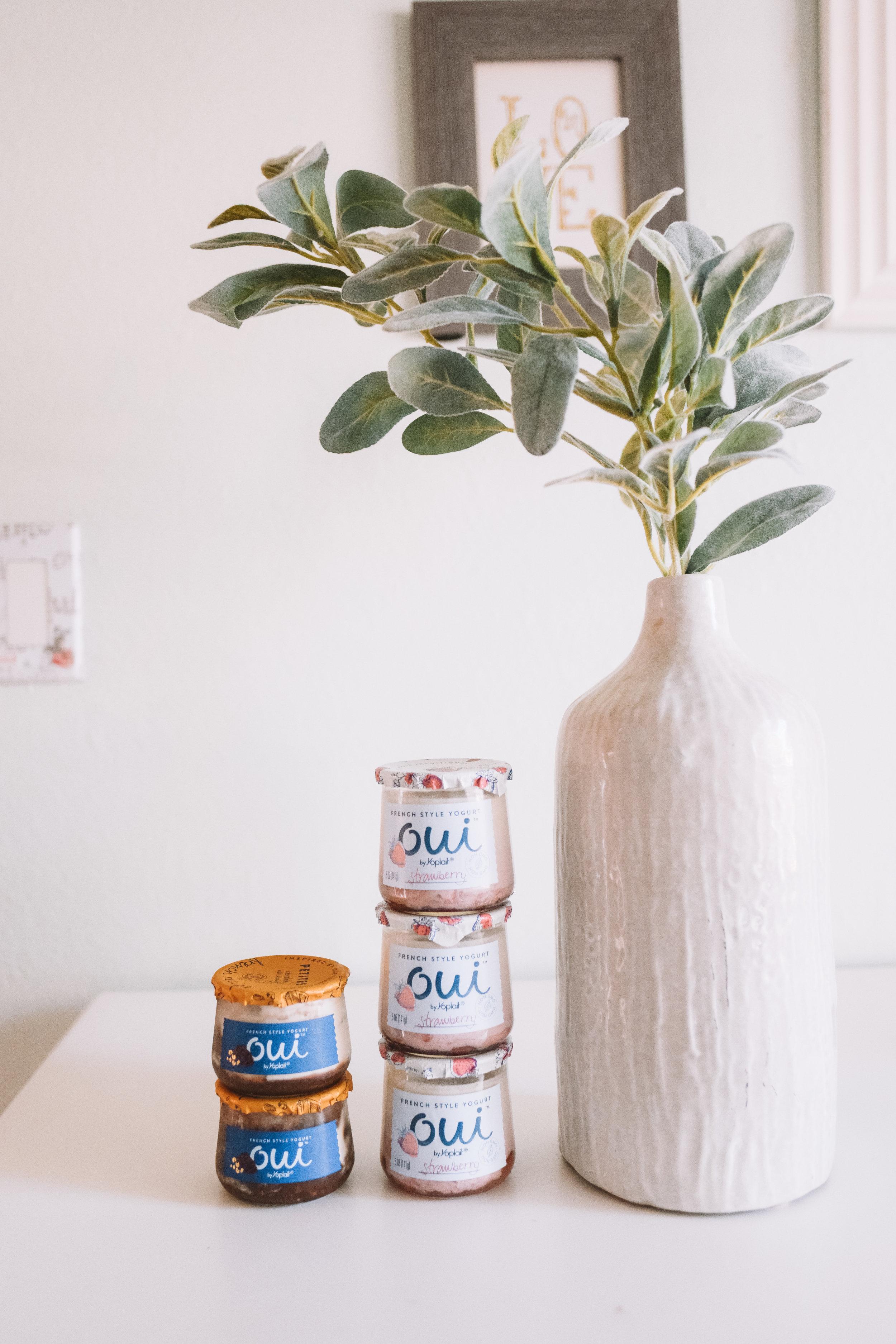 Pregnancy Cravings -- Oui Yogurt Reviews -- The Overwhelmed Mommy Blogger