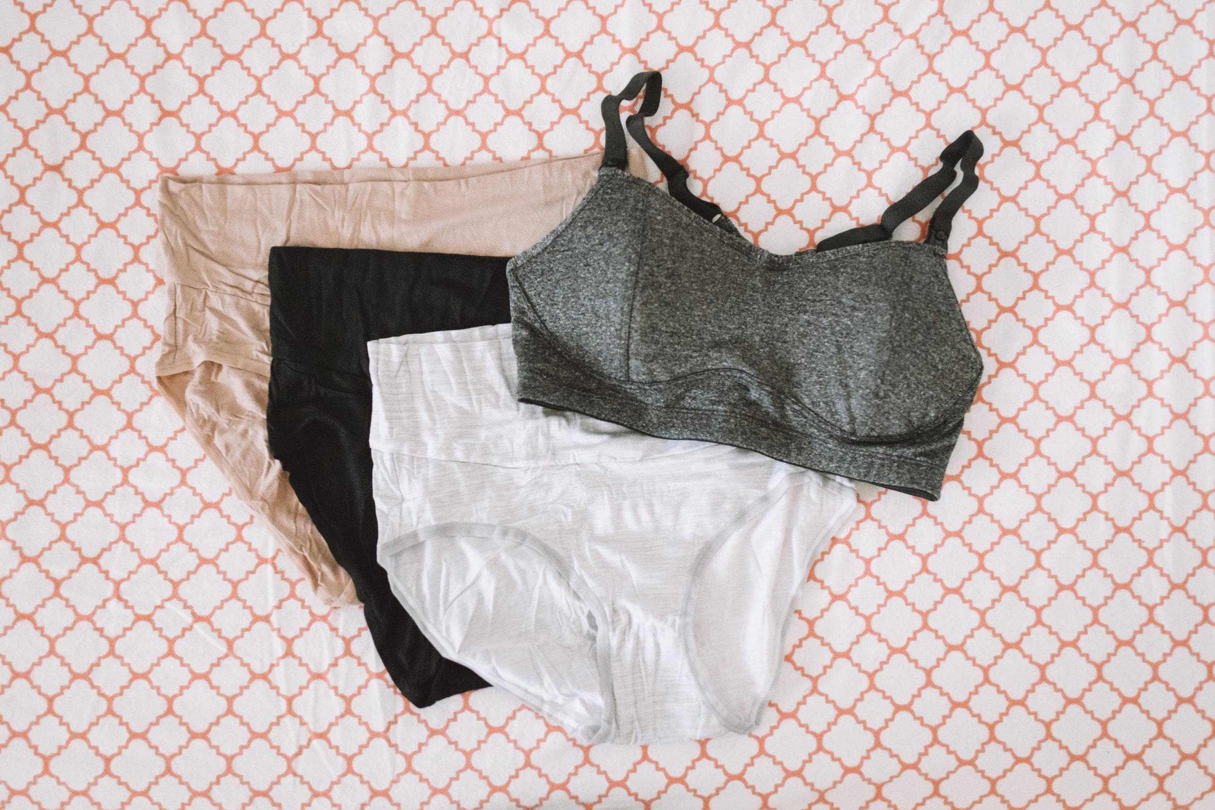 Best Soft Maternity Underwear - Best Maternity Nursing Sports Bra -- The Overwhelmed Mommy Blogger