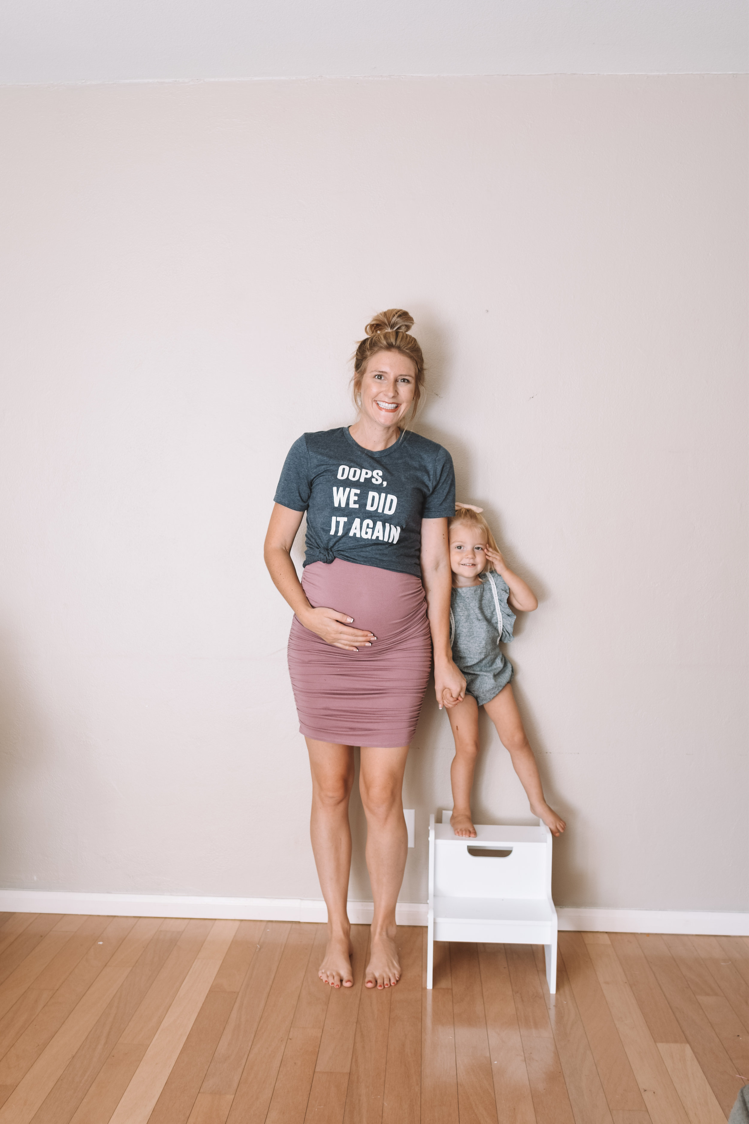 Pregnant Belly 16 Weeks -- Funny Pregnancy Shirts -- The Overwhelmed Mommy Blogger