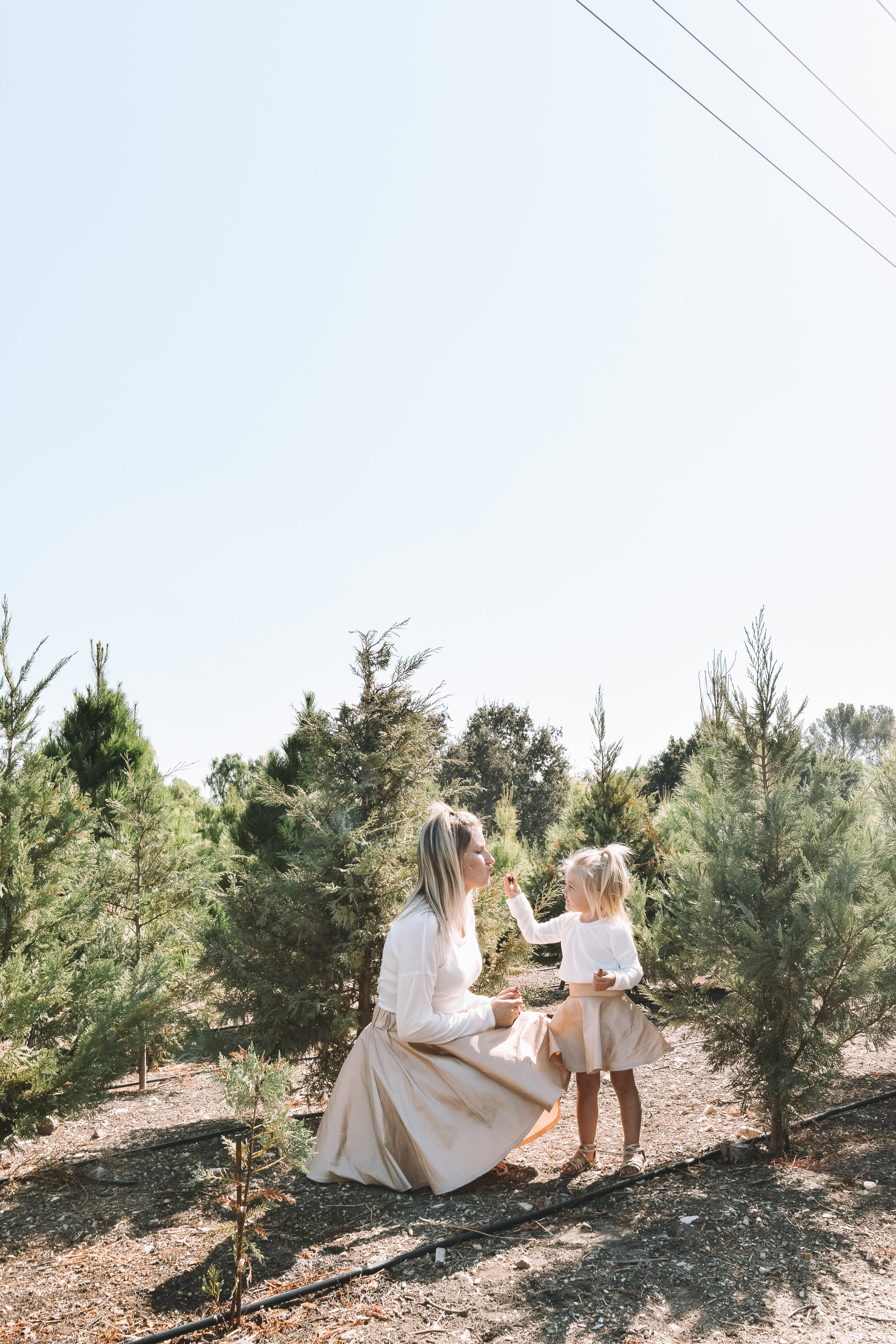 Matching Mommy and Me Holiday Outfits Skirts - The Overwhelmed Mommy Blogger