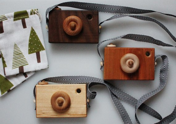 Kids Wooden Cameras - Toddler Girl Holiday Christmas Gift Ideas Unique - The Overwhelmed Mommy Blogger