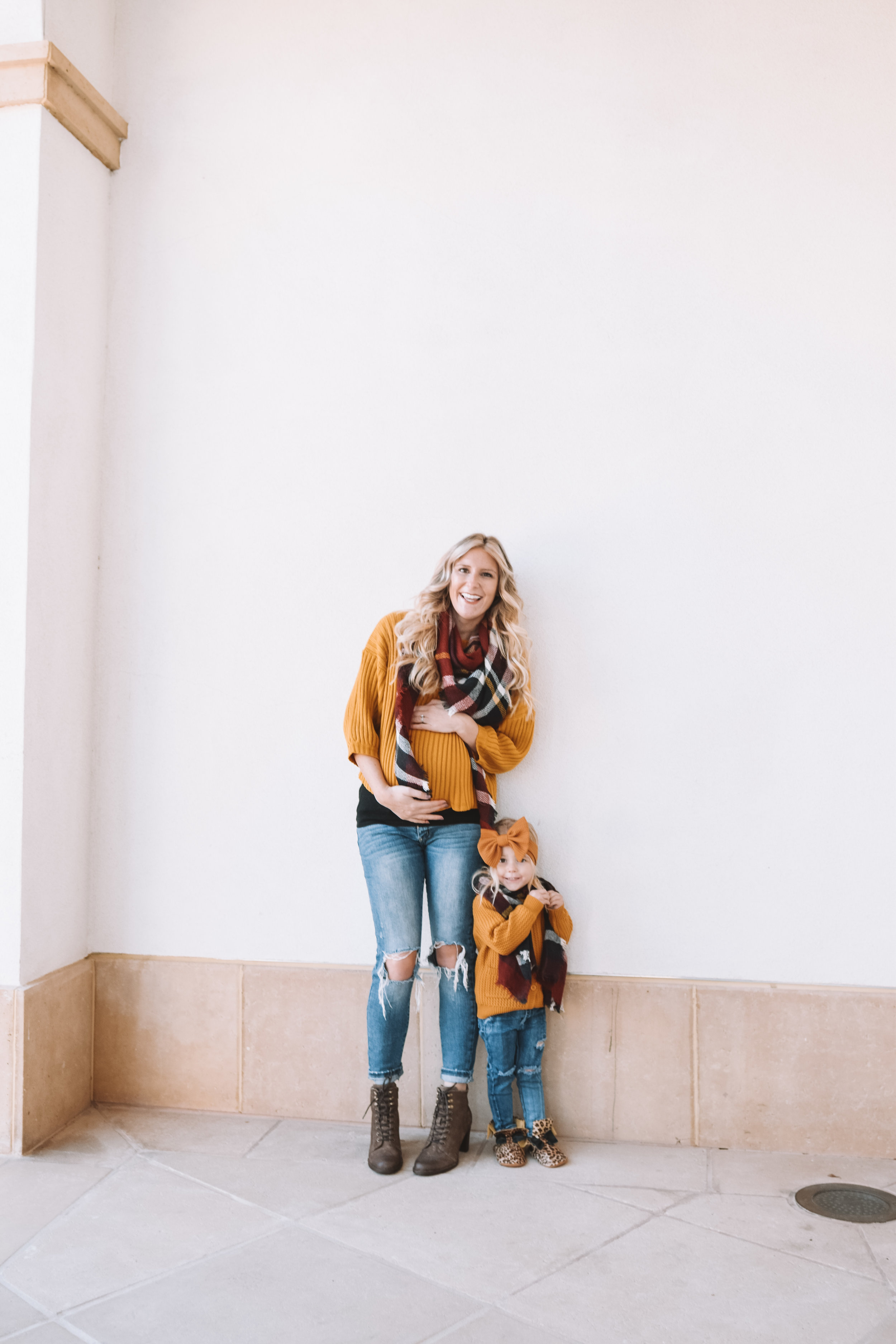 Mommy + Me Clothes Fashion - Plaid Mommy and Me Scarves - The Overwhelmed Mommy Blogger