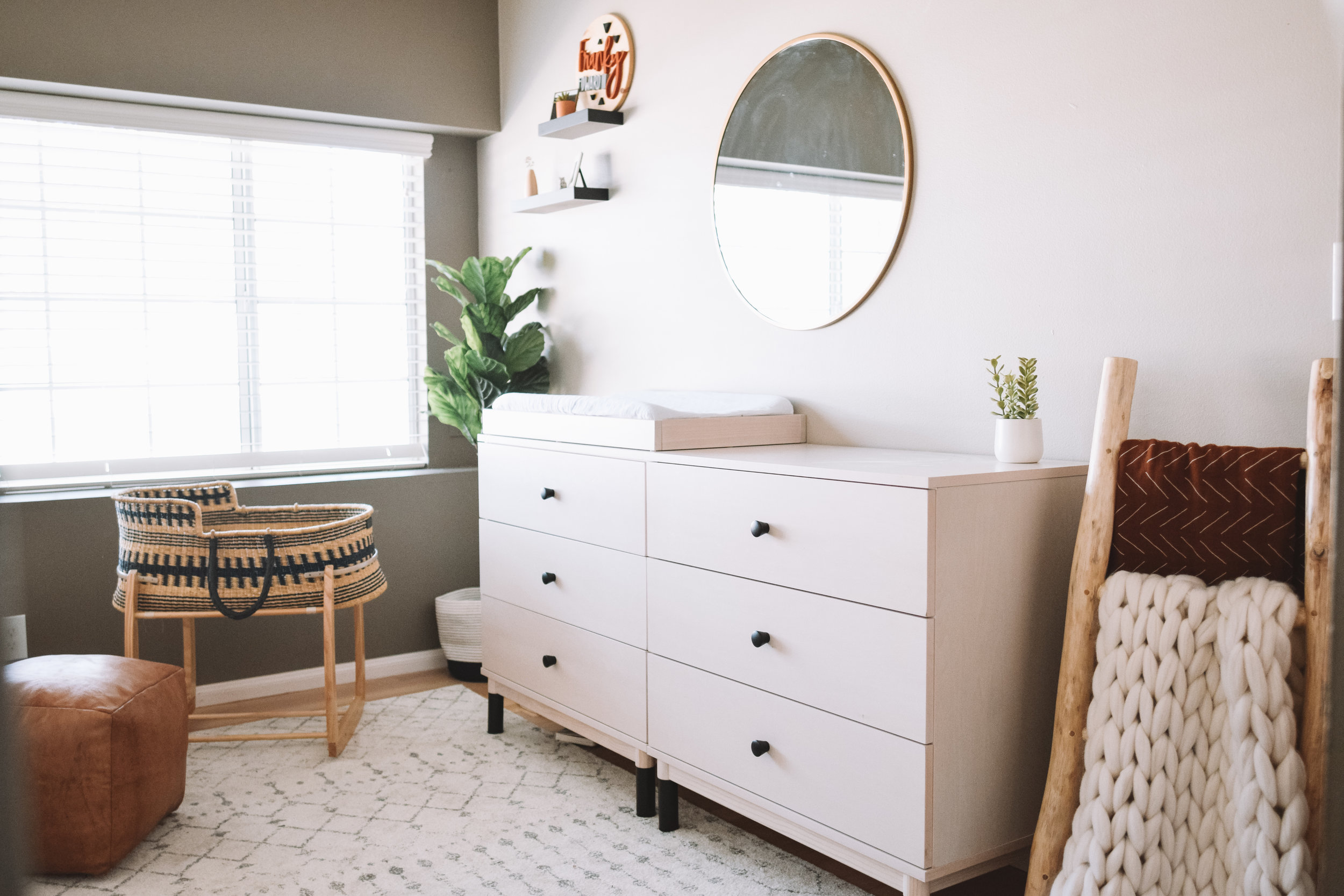 Natural, Minimalistic Baby Boy Nursery Tour Reveal - The Overwhelmed Mommy Blogger