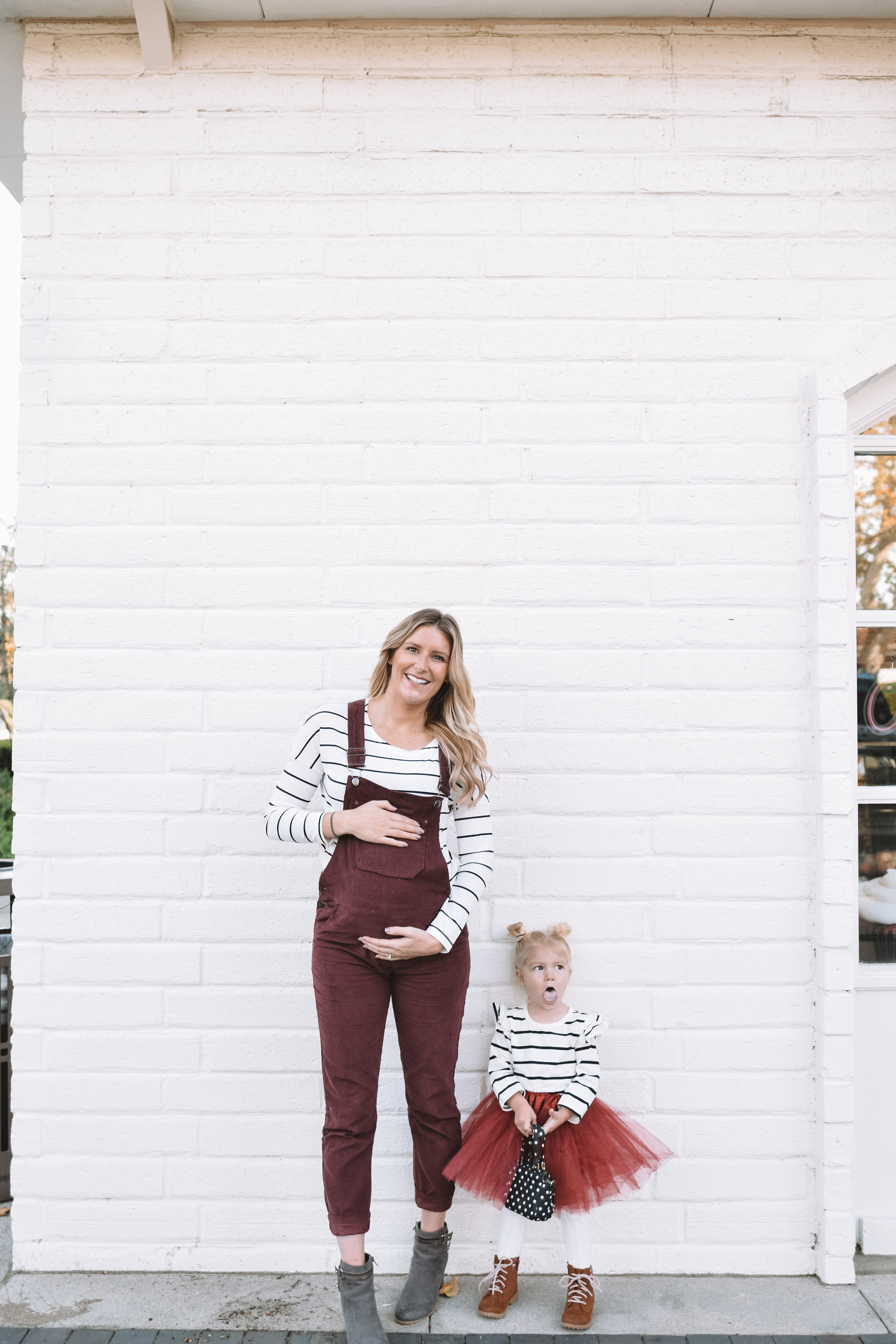 Cute Maternity Fashion Overalls - Mommy and Me Clothes - The Overwhelmed Mommy Blogger