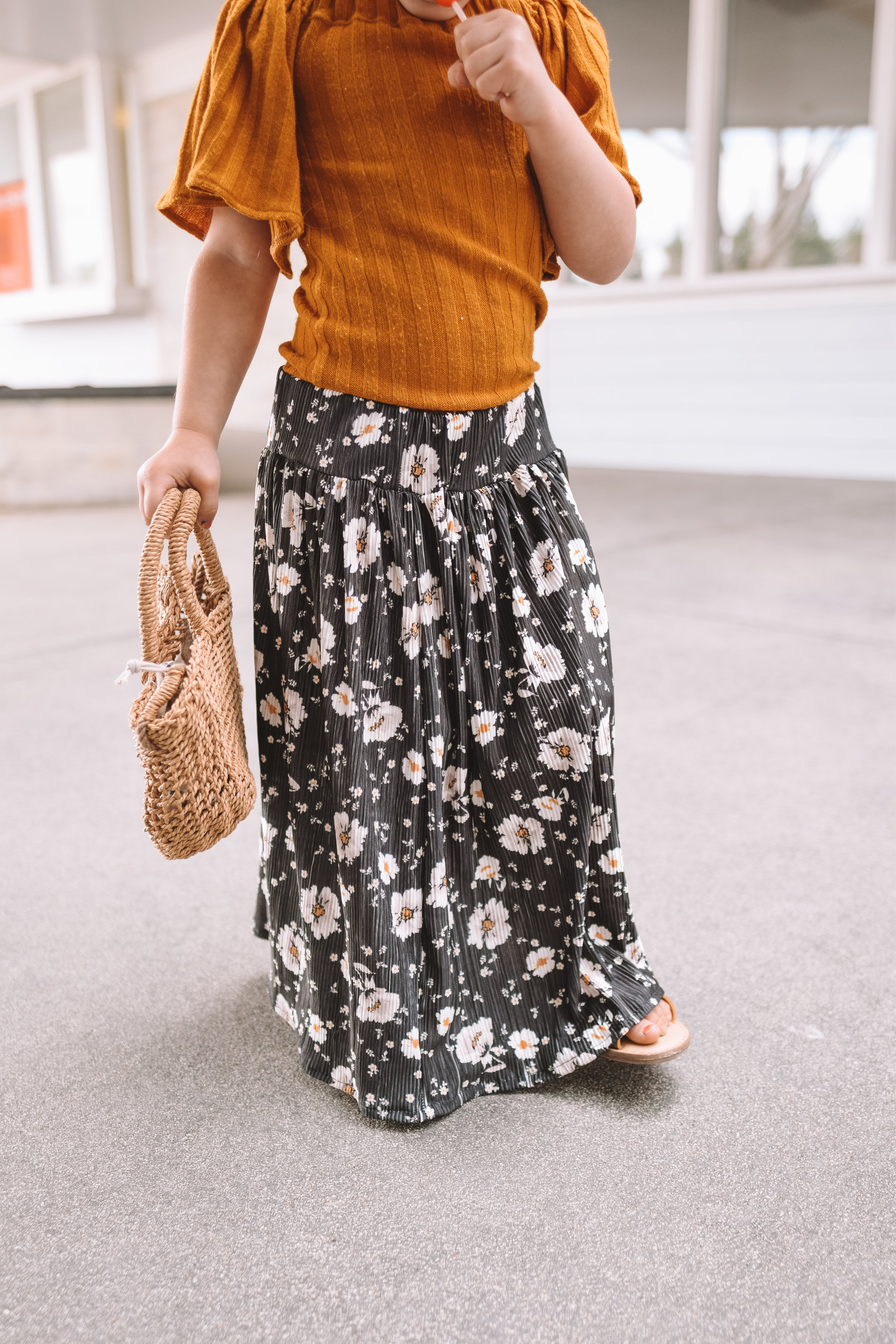 Mommy and Me Floral Maxi Skirts - The Overwhelmed Mommy Blogger
