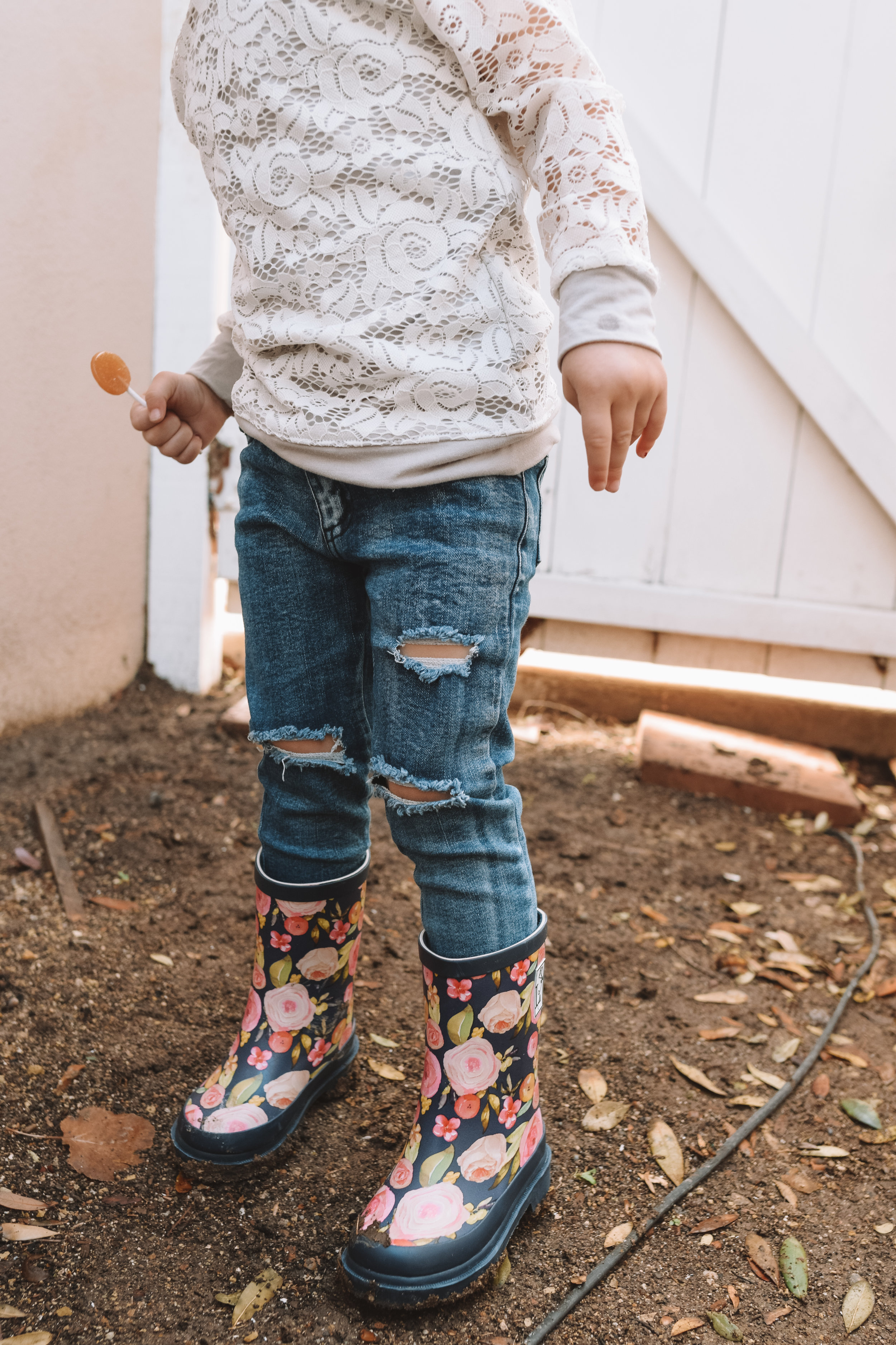 Cute Kids Baby Clothes Fashion - Floral Kids Rain Boots - The Overwhelmed Mommy Blogger