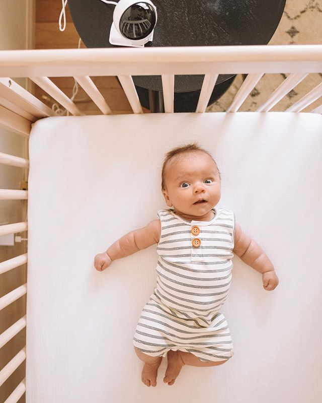 "Couldn't come up with a caption perfect enough for this face so I'm just gonna plop this right here to give you a good Thursday smile 😜 [make sure you swipe through] . . We got to try out this @eufyofficial #babymonitor and let me tell you, it's fantastic! It's got a super large 5"" monitor, amazing 720p quality, a wide angle lens included + you can control the direction of the camera from the monitor itself with 330° room coverage! USE CODE: EUFYBBM2 for 25% off on Amazon (expires 5-24)"
