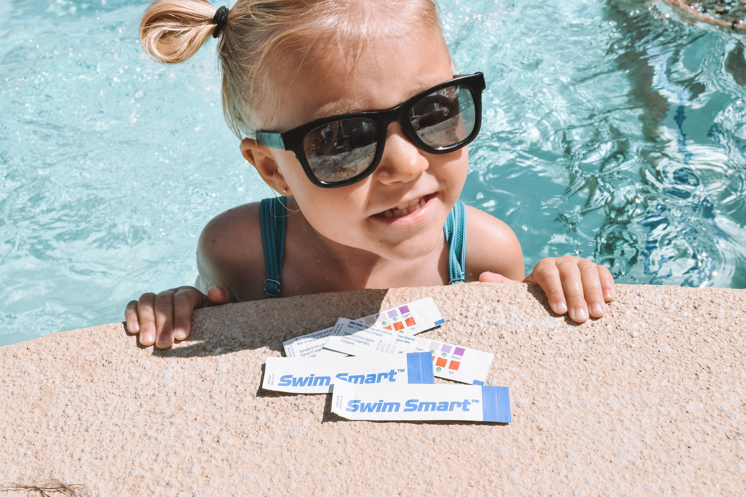 Check Public Pool Water Test Strips - Swim Smart Aquacheck - The Overwhelmed Mommy Blogger