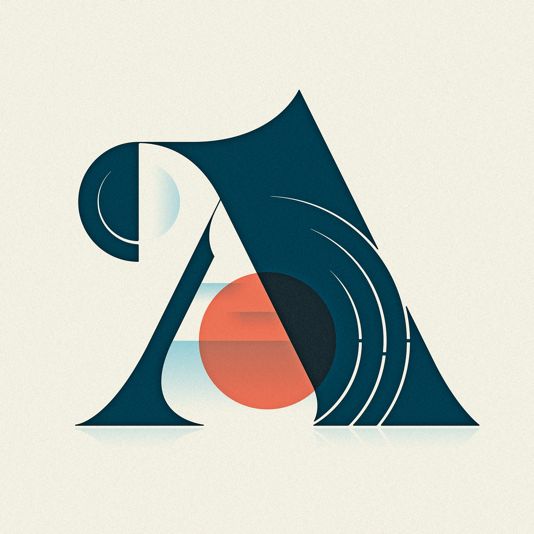 """A"" from 36 Days of Type, 4th Edition, 2017"