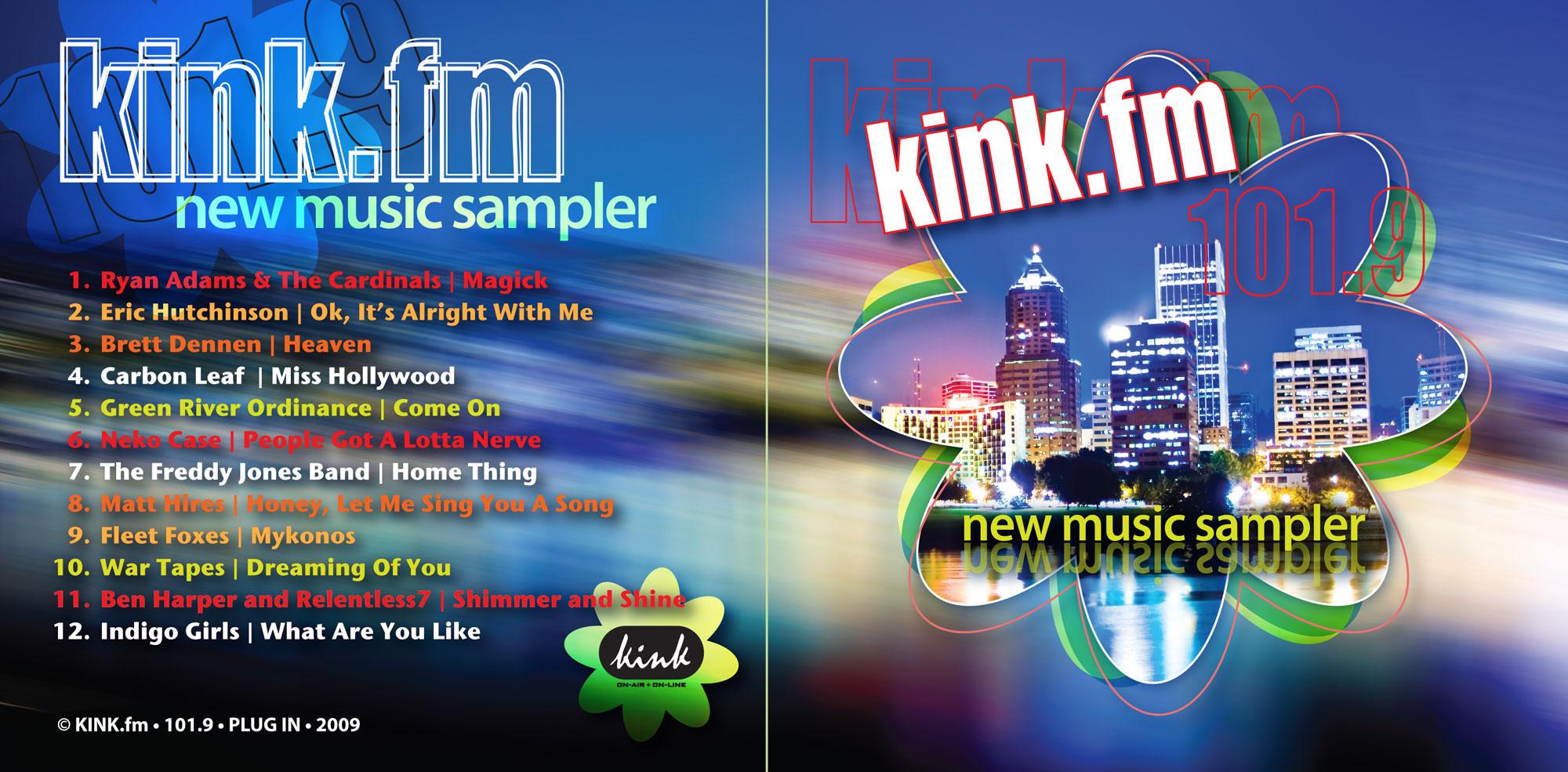 kink.fm new music cd sampler