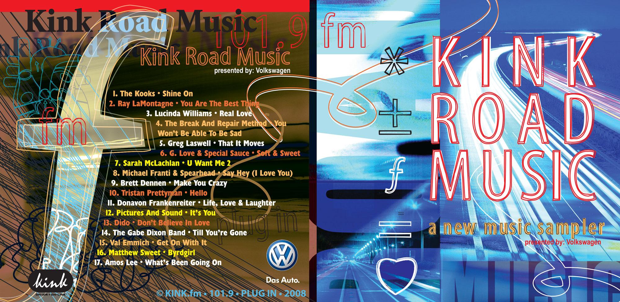 kink.fm road music sponsored by VW