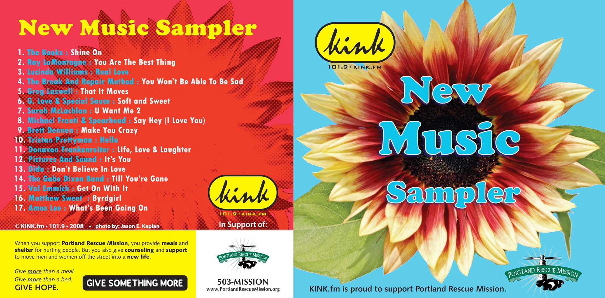 kink.fm new music sampler sponsored by portland rescue mission