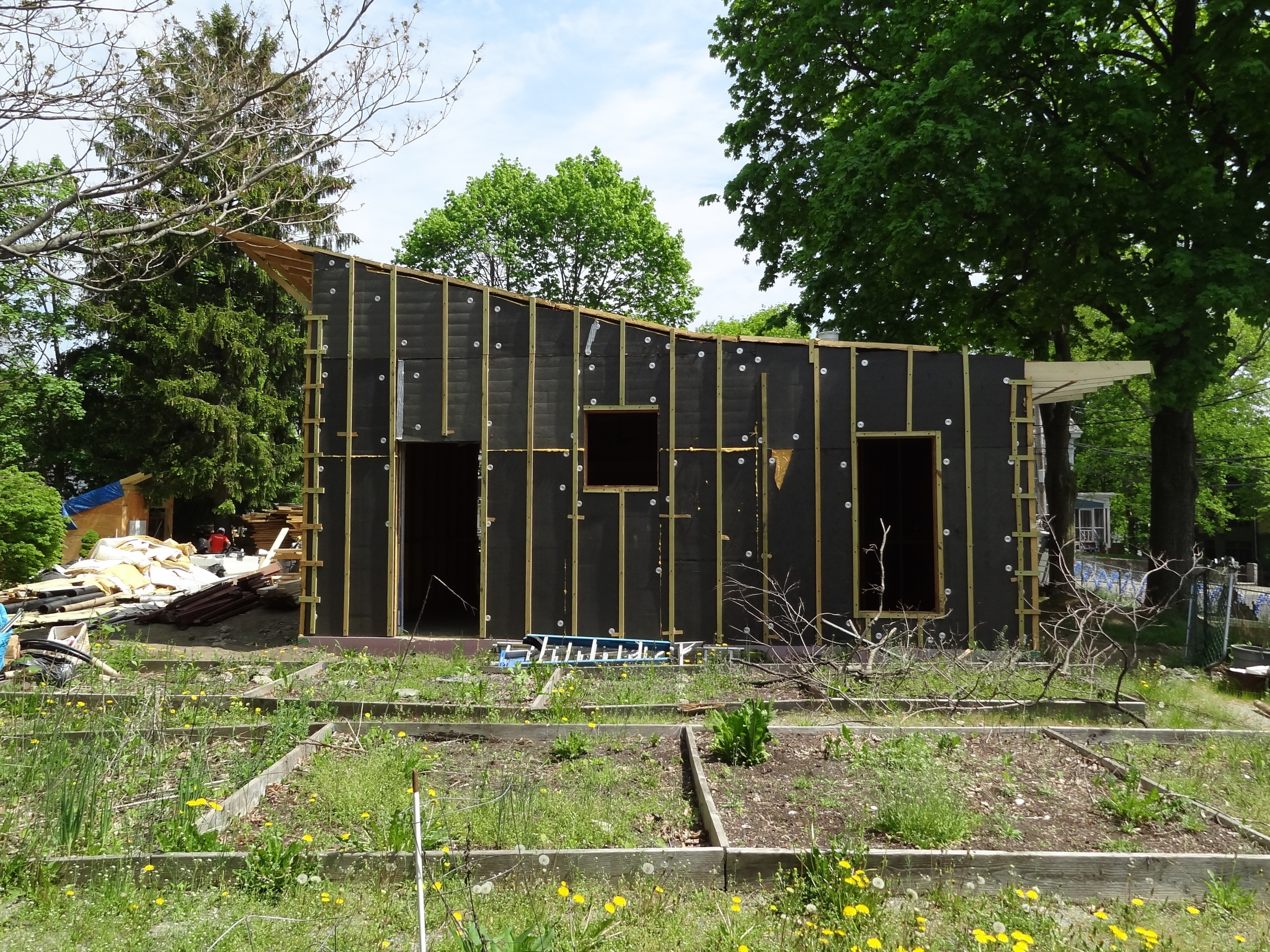 progress at the garden