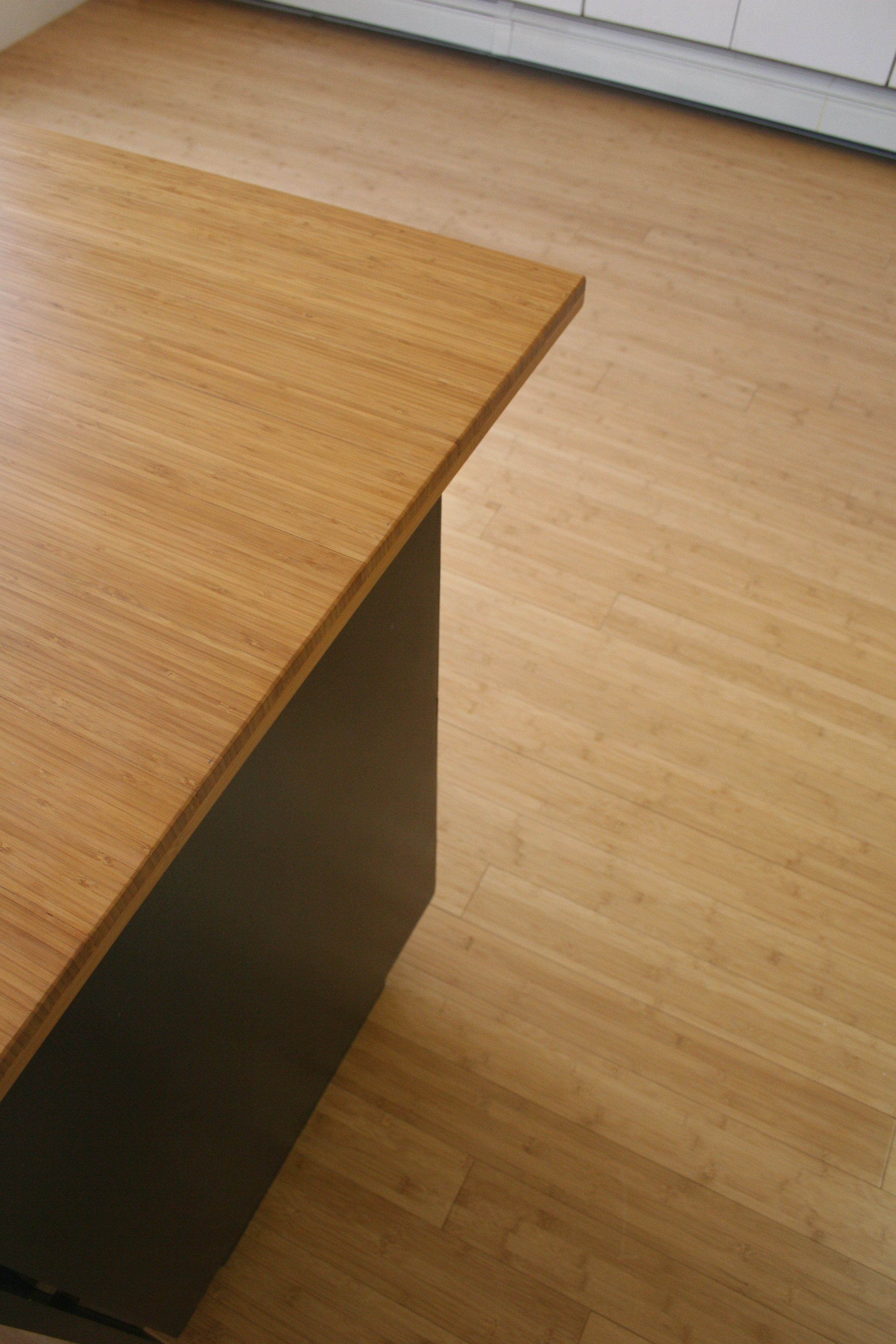 Bambu flooring used for counters