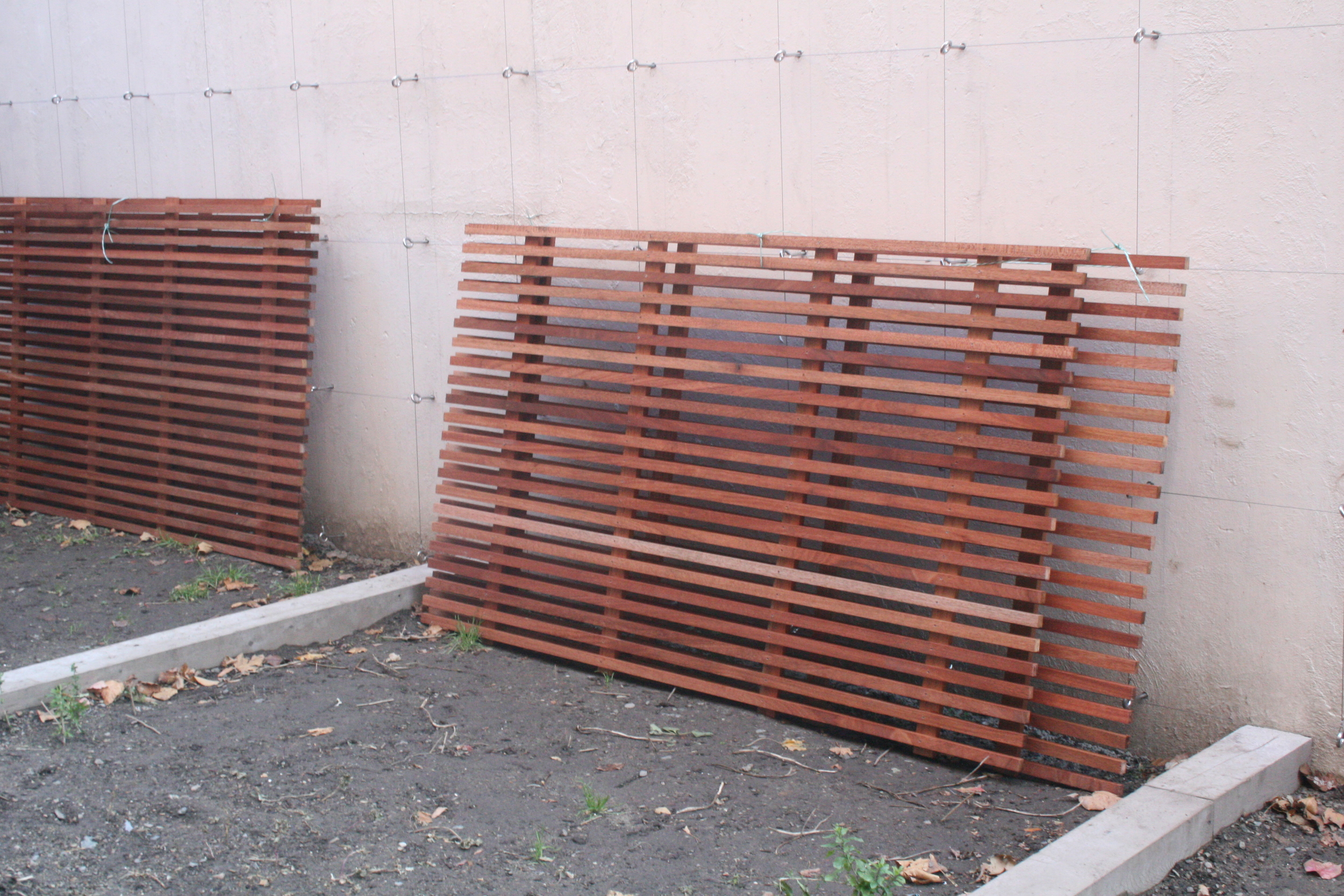 Proposed wood fencing