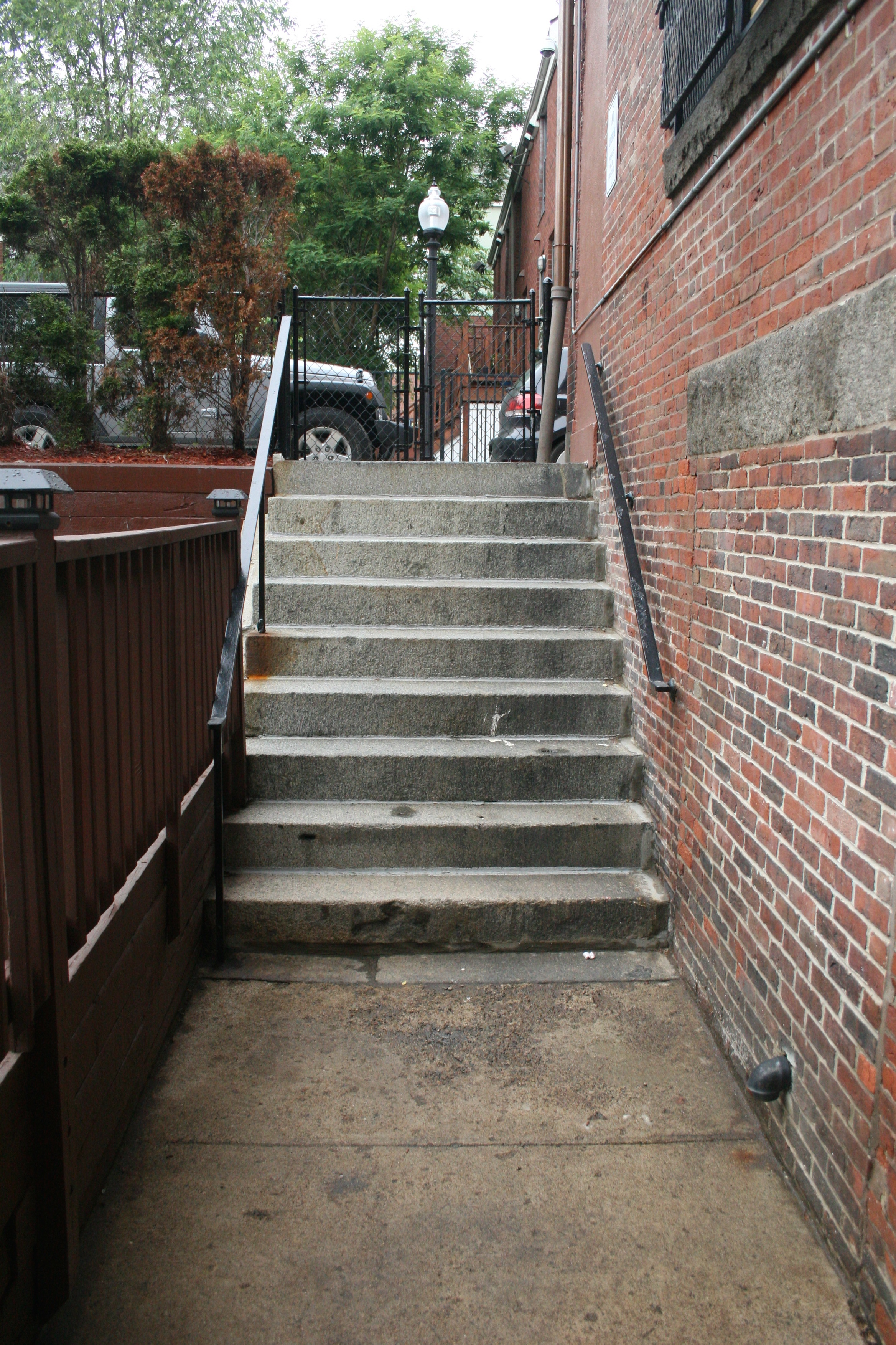 BEFORE - stair up to street