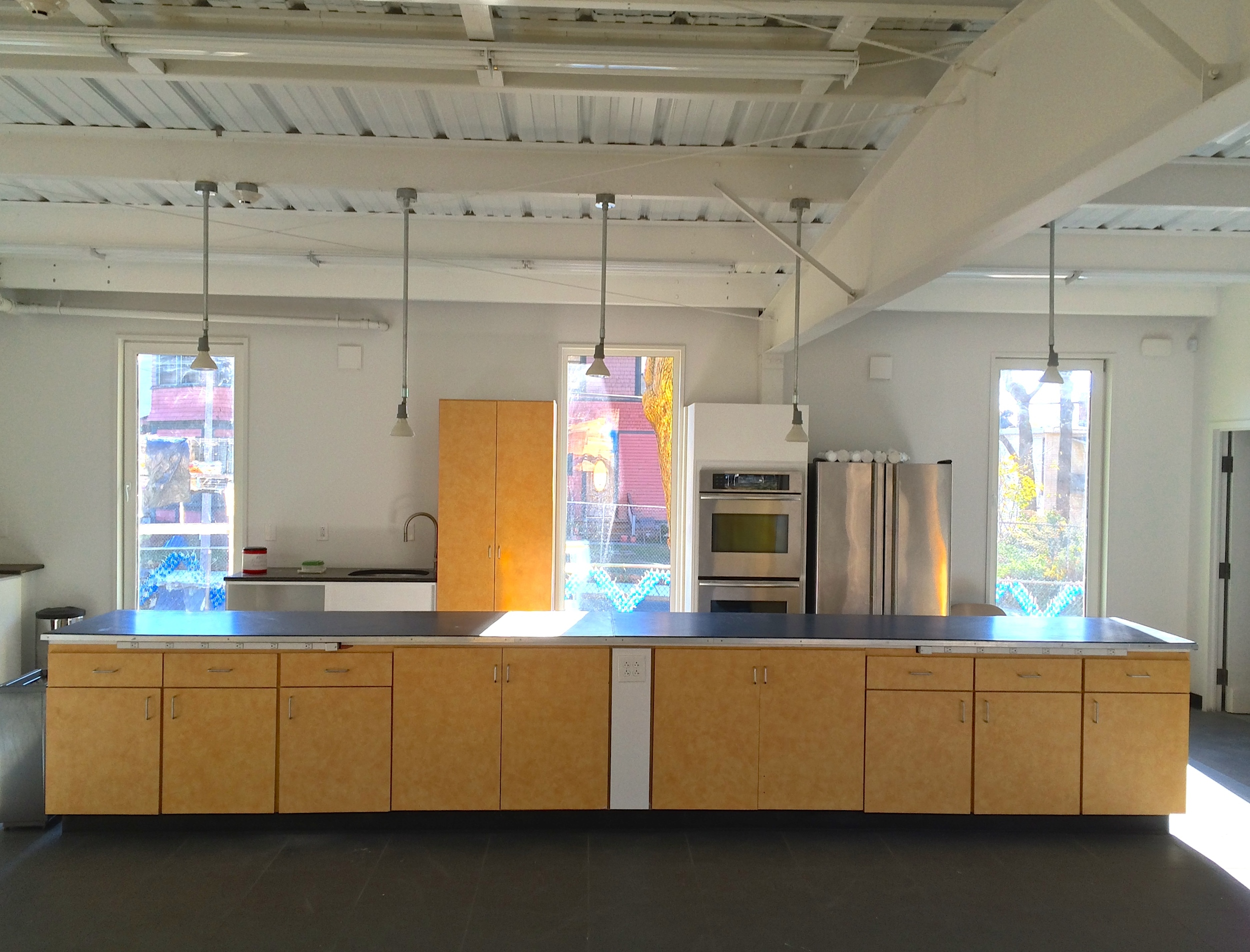 interior kitchen - donations through Dunkin Donuts and the Boston Building Resource Center