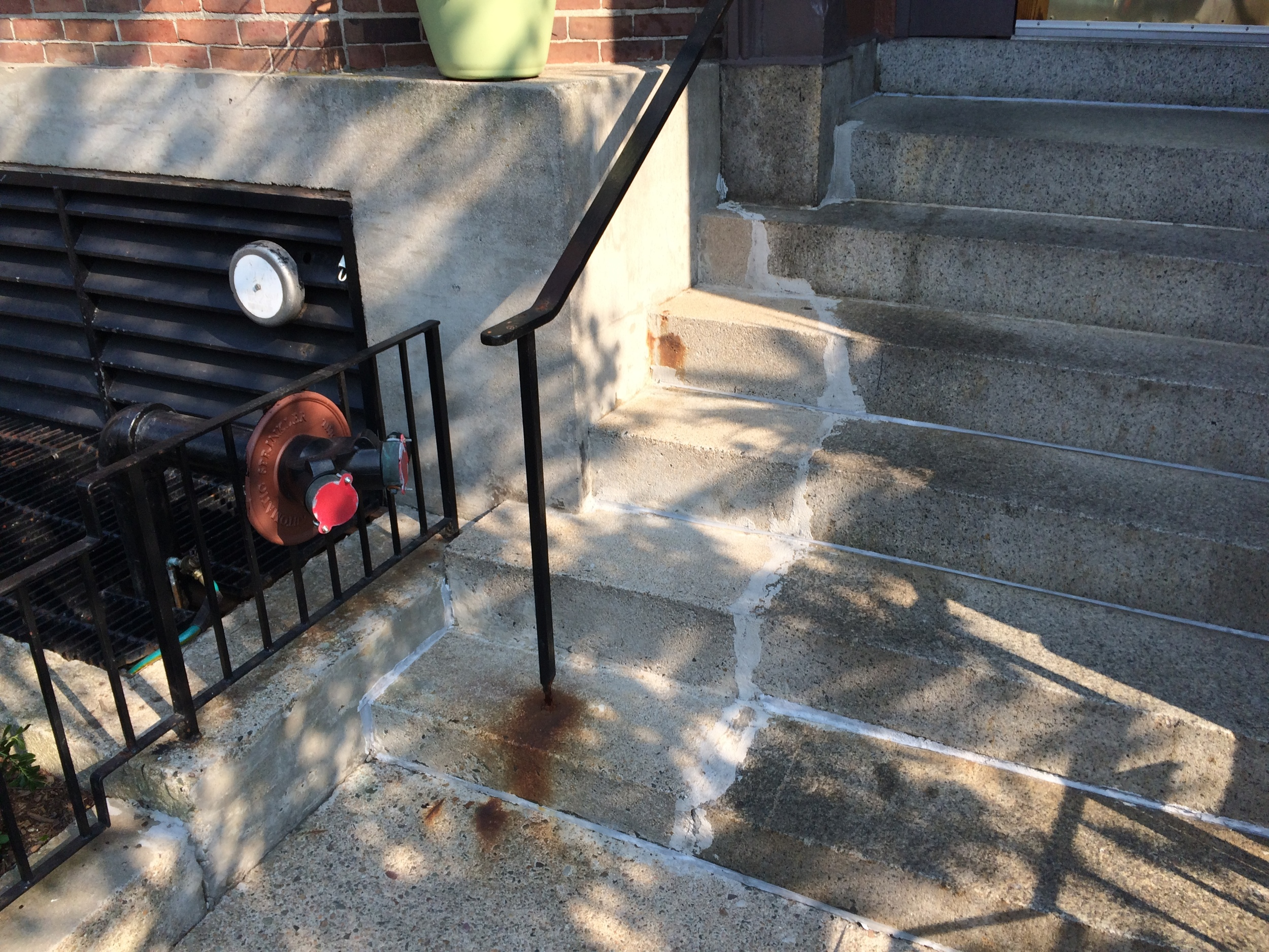 existing stoop and railings needing reapir