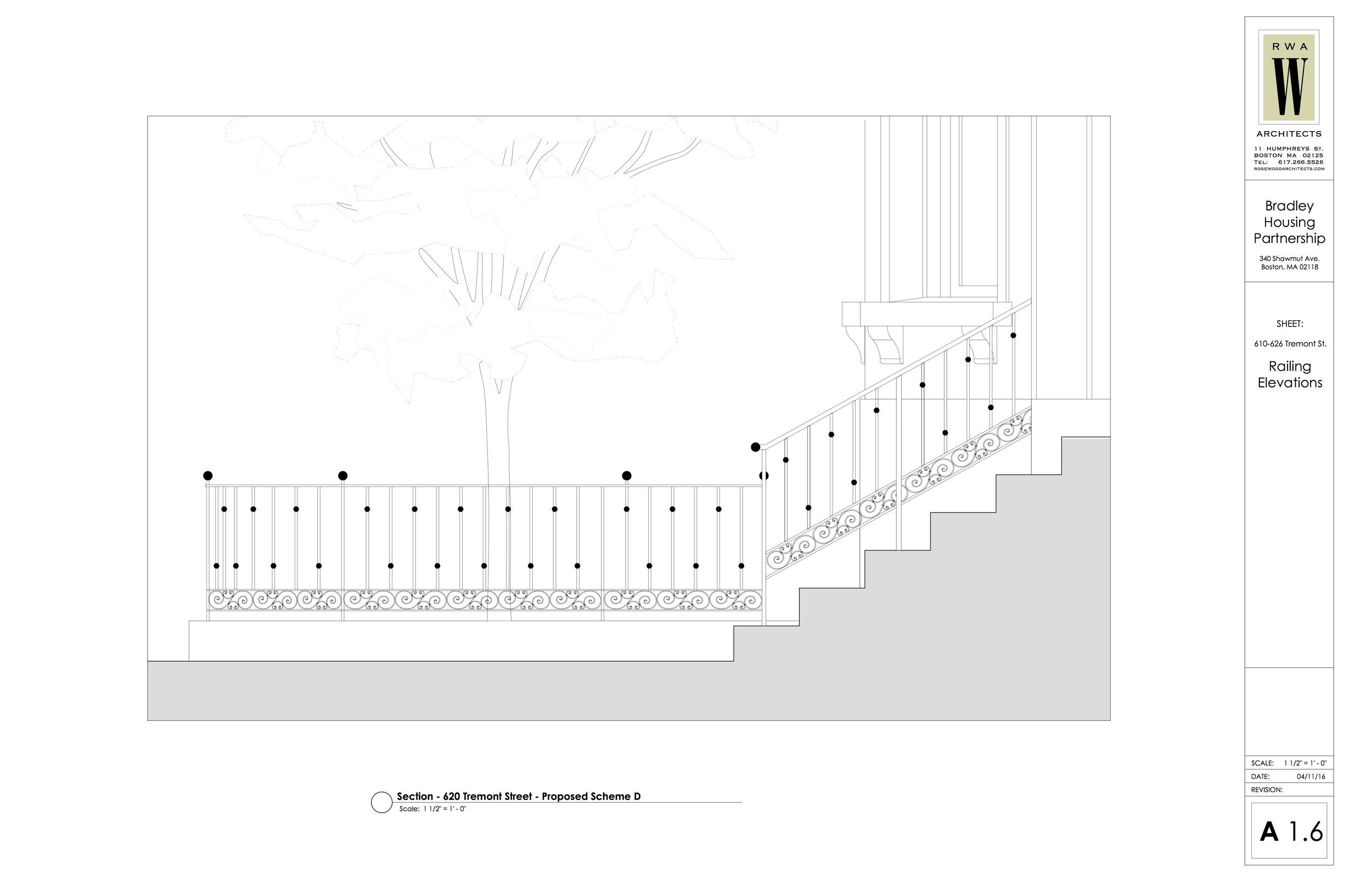 Proposed railing design
