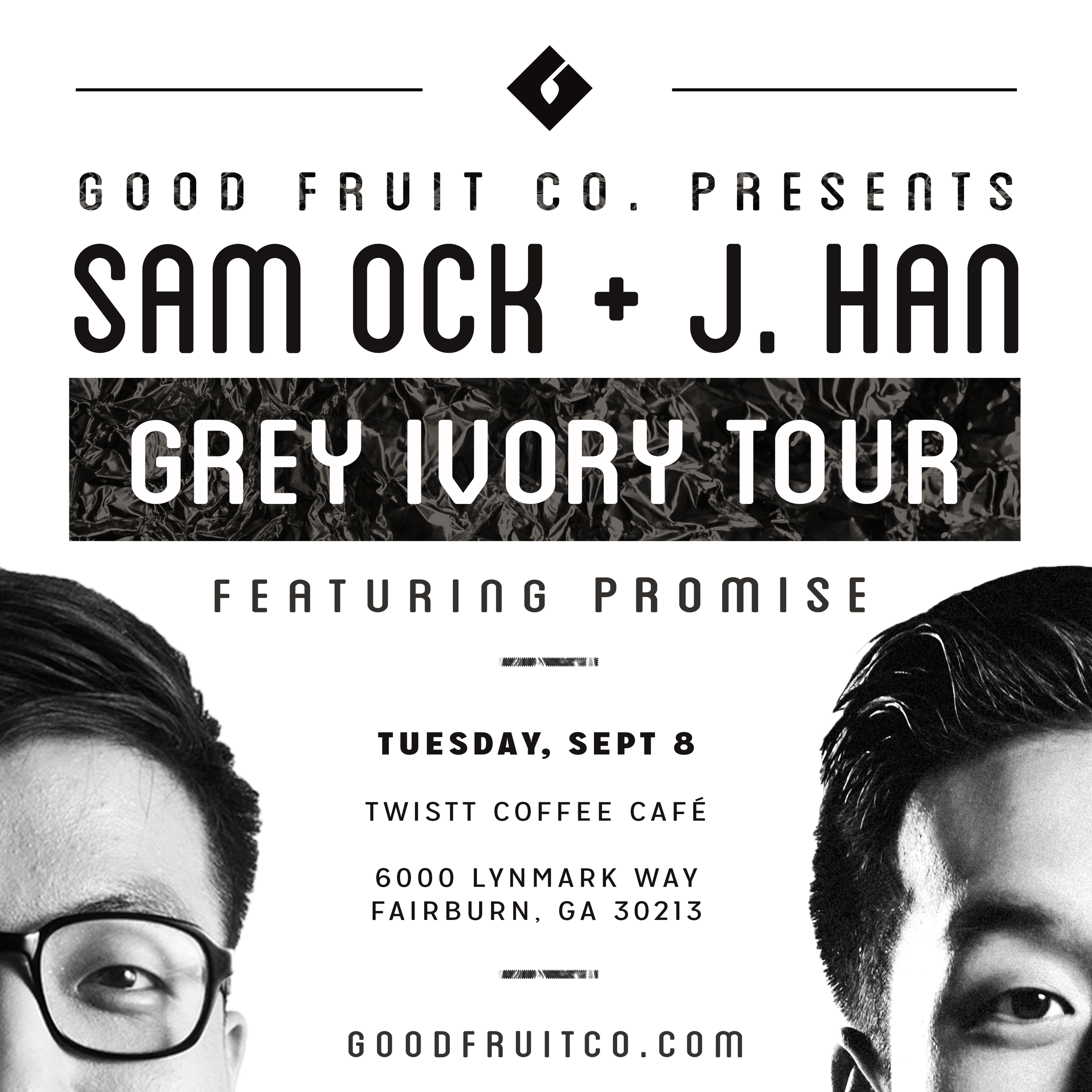 Grey Ivory Tour Concert Flyer