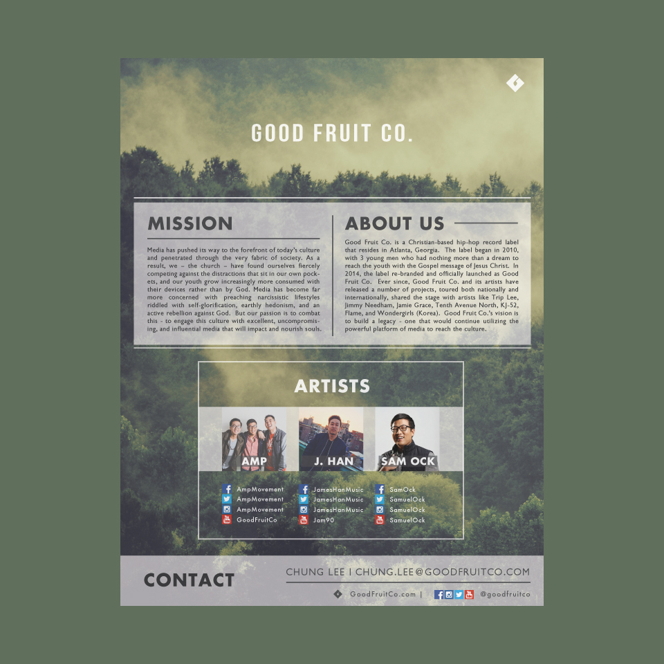 Good Fruit Co. One Sheet