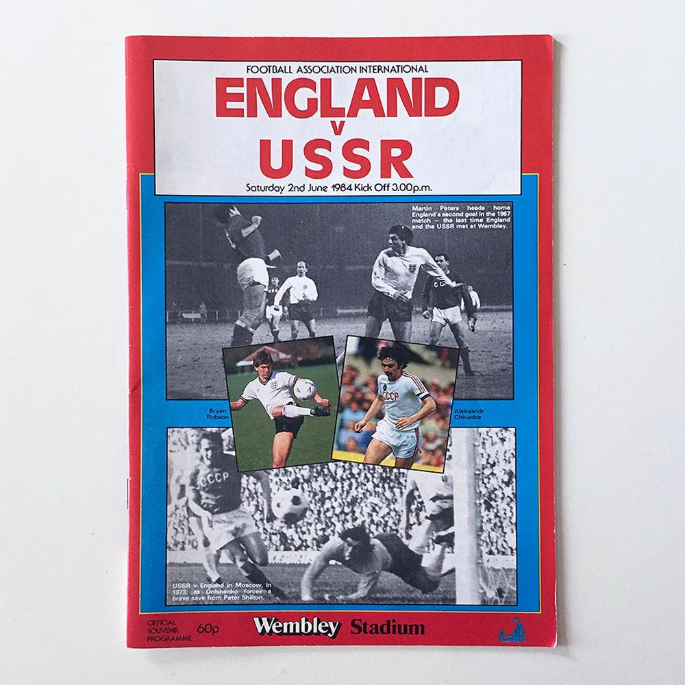 England v USSR Signed Programme 1984