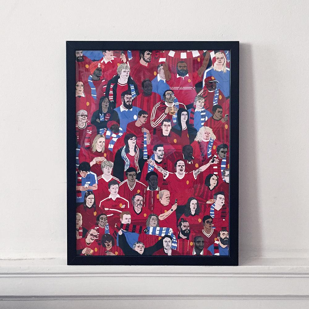 Pickles Red Fans Framed Print