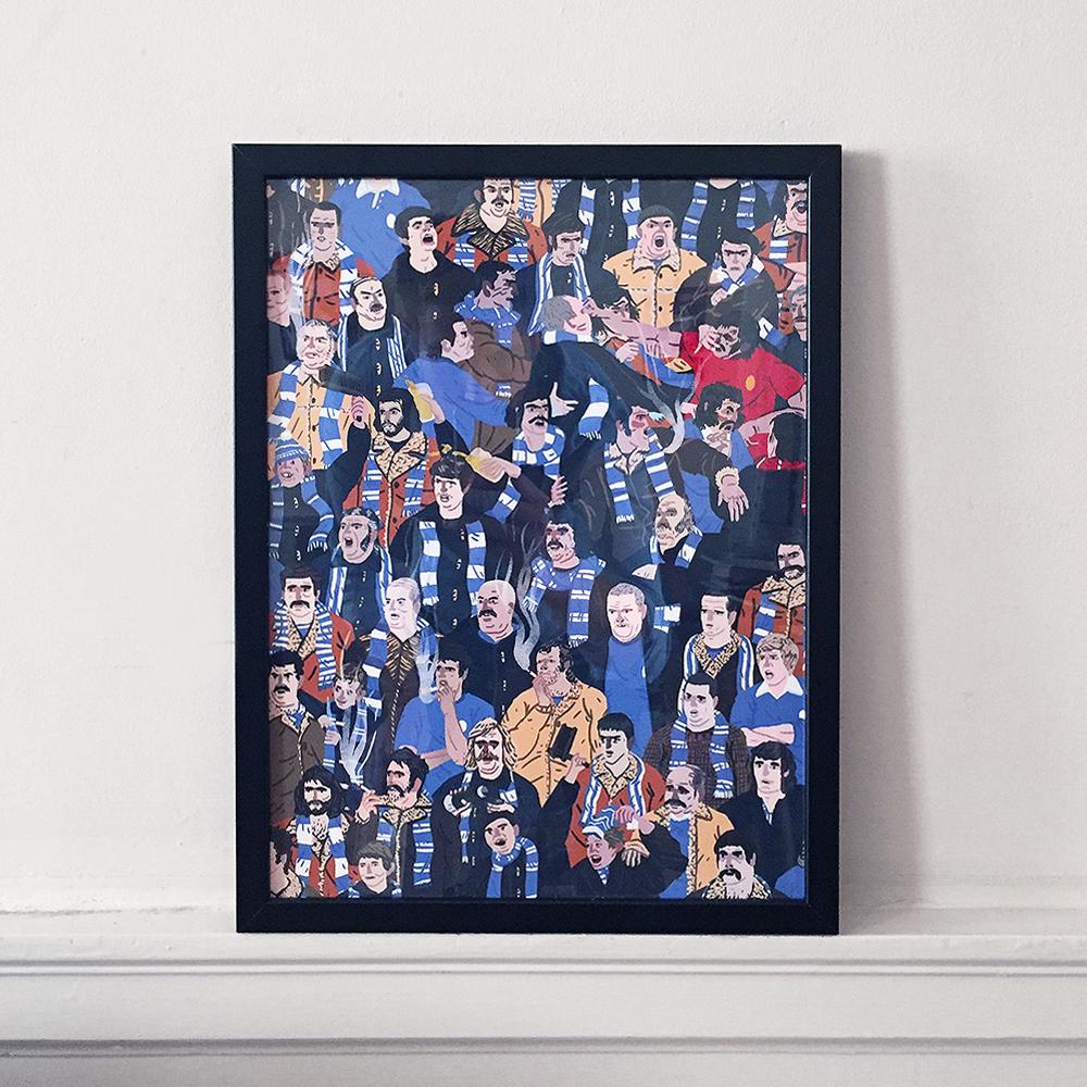 Pickles Blue Fans Framed Print