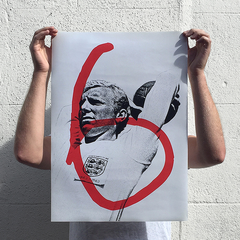 Limited Edition Bobby Moore A2 Print