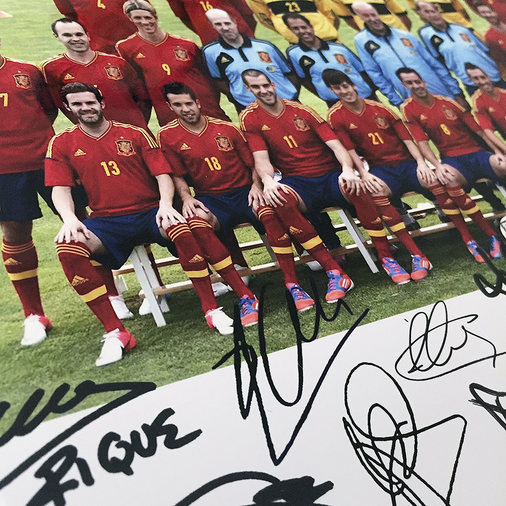Spain Euro 2012 Signed Framed Photo