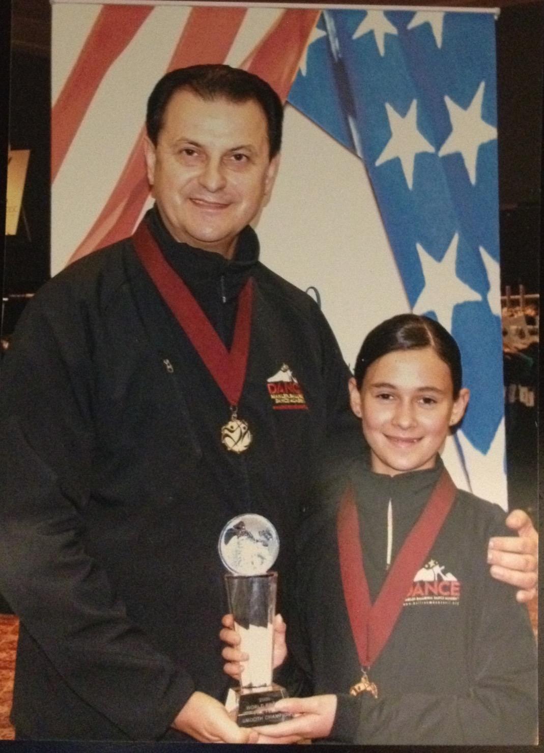 Vassily Lyashenko & Valerie Pelts  2009 World Pro-Am Preteen Champion Ballroom Dance Hall of Fame, Columbus, OH