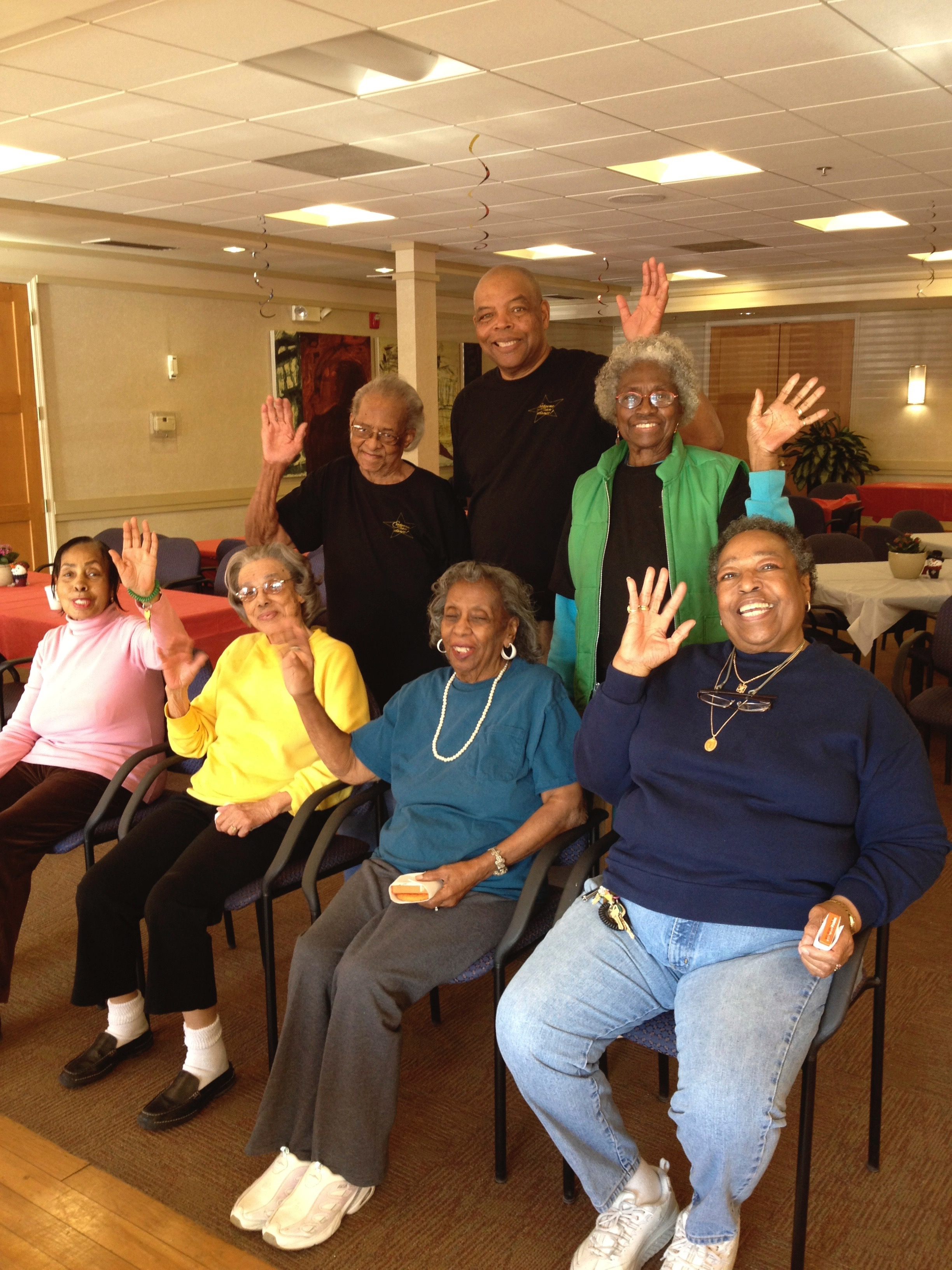 Some of our BDASL Seniors getting excited for their classes