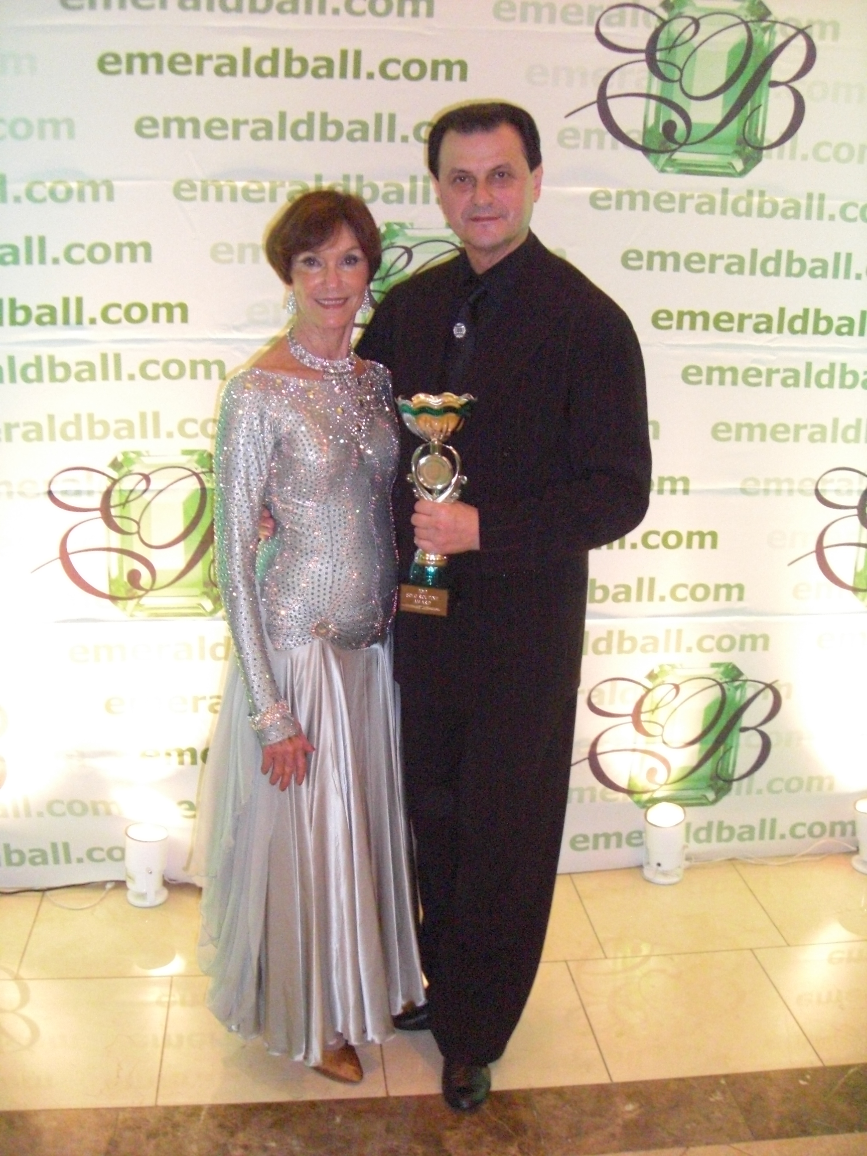 Emerald Ball Competition. Anne with Top Student Award and Vassily with Top Teacher Award.