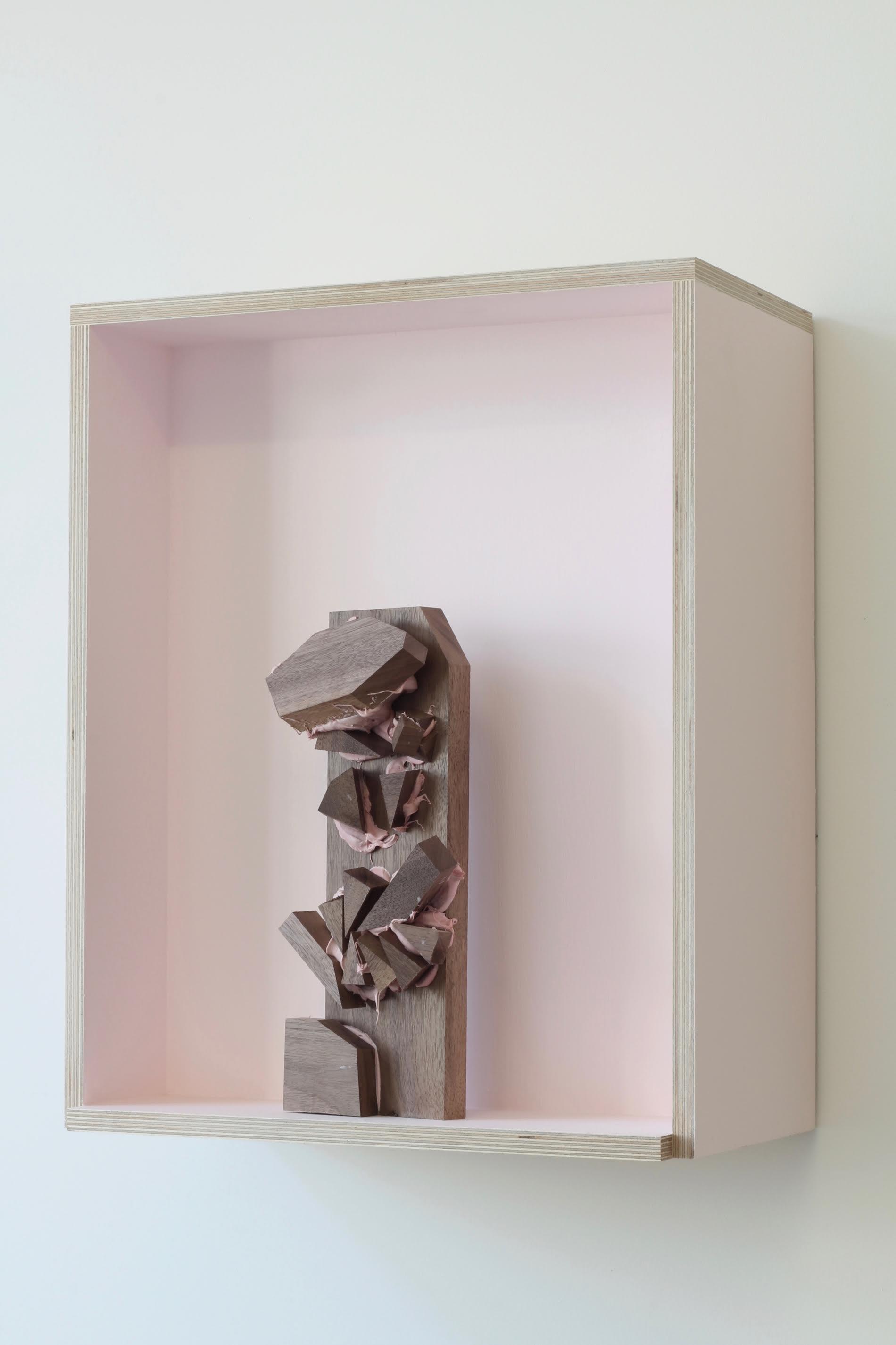 Oliver Tirré - Threshold, Filler on wood, emulsion on plywood, 2015 (Castor Projects)