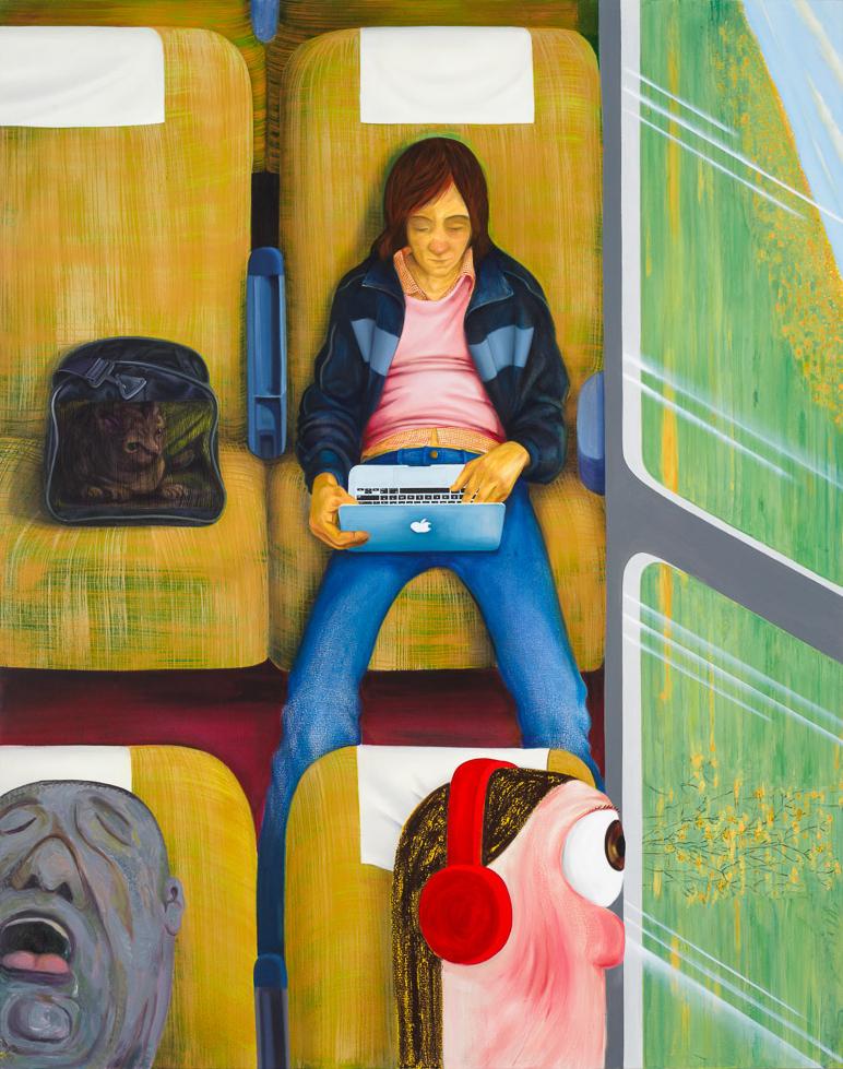 Nicole Eisenman Weeks on the Train, 2015 Oil on canvas 82 x 65 inches (208.3 x 165.1 cm)(ak#11909)