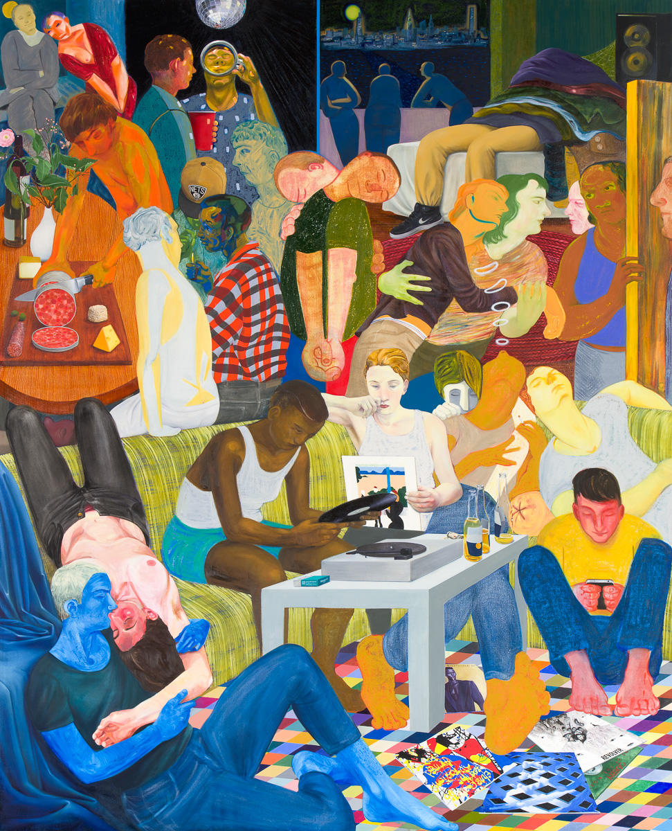 Nicole Eisenman Another Green World, 2015 Oil on canvas 128 x 106 inches (325.12 x 269.24 cm) (ak#11990)