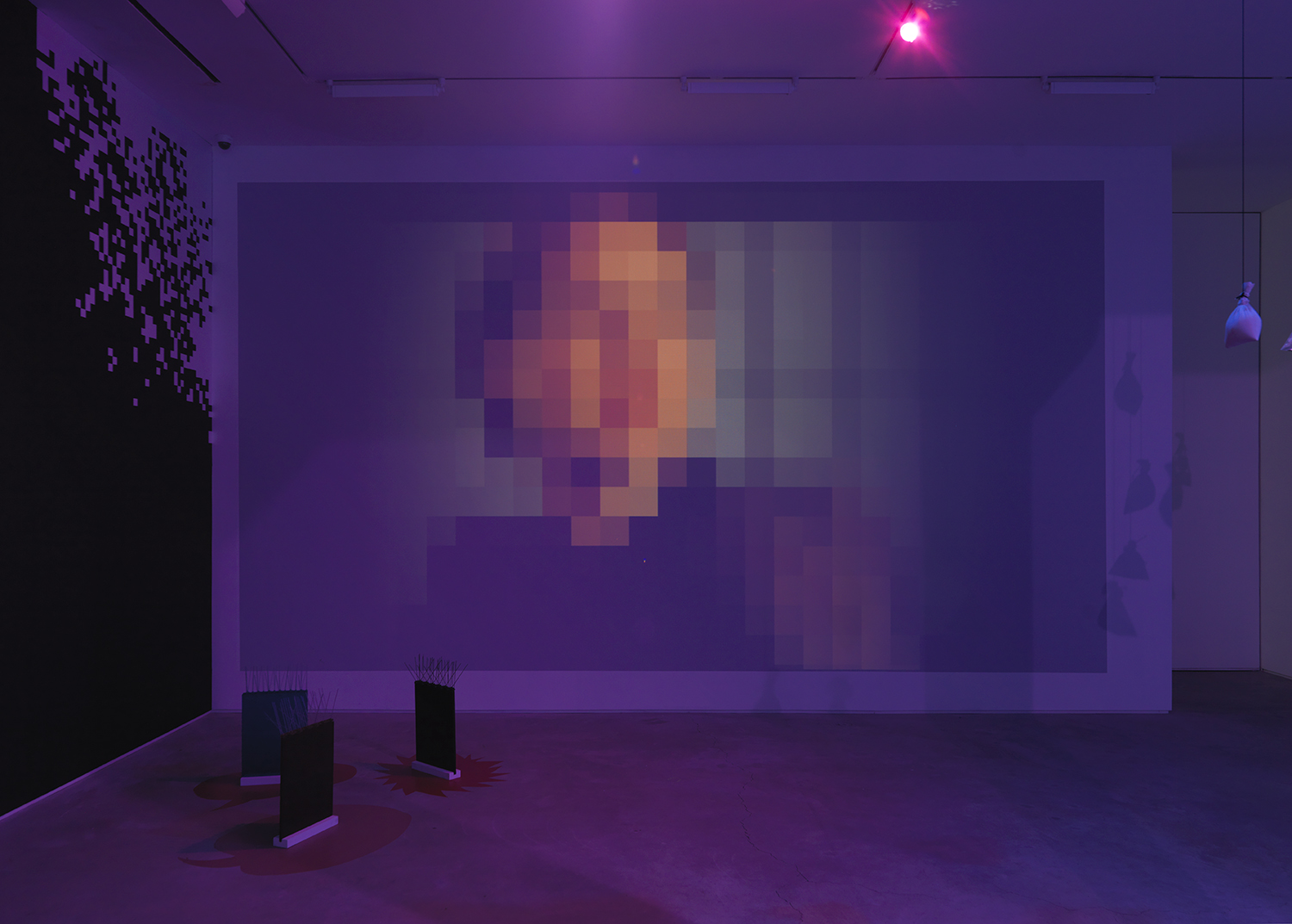 Stealing one's own corpse (an alternative set of footholds for an ascent into the dark) Part 2 – Swimming in rivers of glue – The perspective of perspective. 2016, digital video projection, 9 minutes 57 seconds, dimensions variable