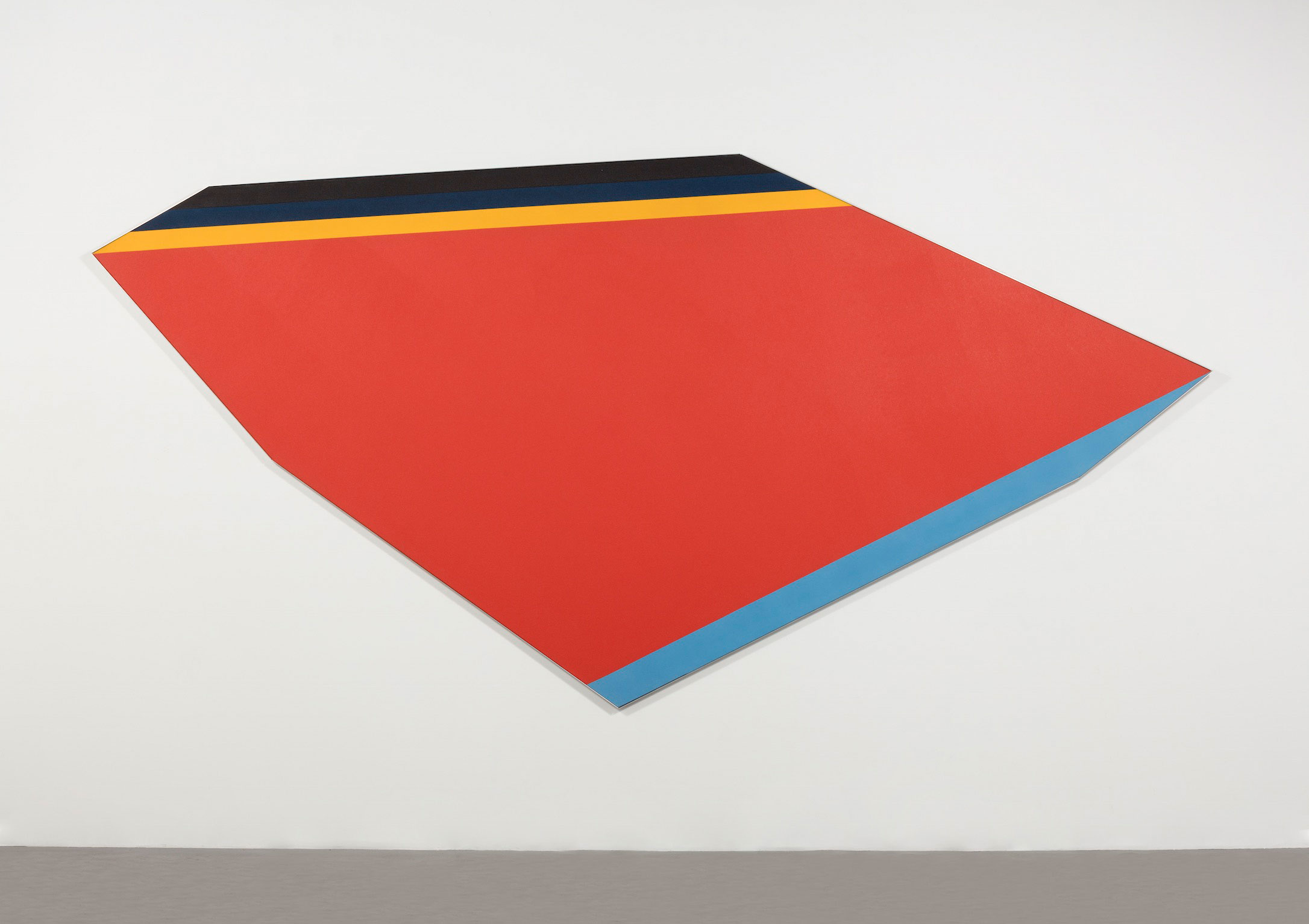 Kenneth Noland Adjoin, 1980 Acrylic on canvas 89 7/8 x 178 3/4 inches (228.3 x 454 cm)  © Estate of Kenneth Noland/Licensed by VAGA, New York, NY
