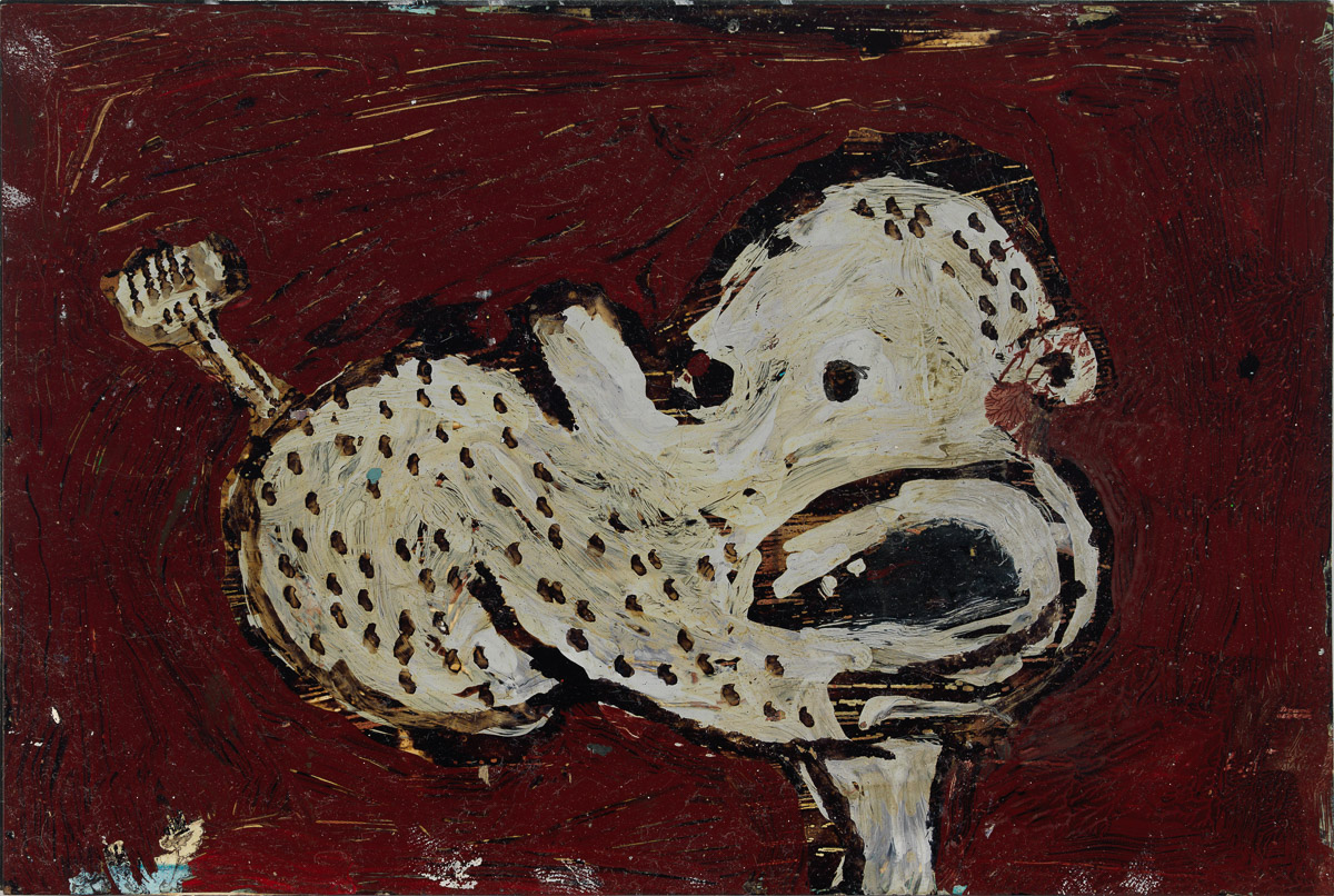 Untitled, 1991 Oil on paper 4 x 6 in (10.16 x 15.24 cm) (paper); 6 x 8 in (15.24 x 20.32 cm) (framed) signed and dated on reverse (ak#12573) courtesy Anton Kern Gallery, New York, and Corbett vs. Dempsey, Chicago. © Brian Calvin