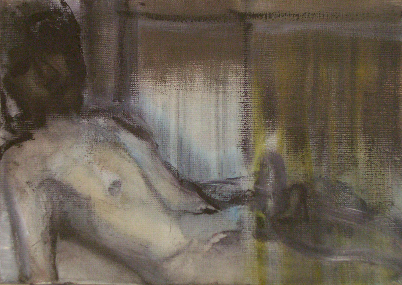 Marlene Dumas MORNING GLORY 1998-01 Oil on canvas 9 3/4 x 13 3/4 inches 24.8 x 34.9 centimeters Courtesy Tilton Gallery, New York CR# DU.36676