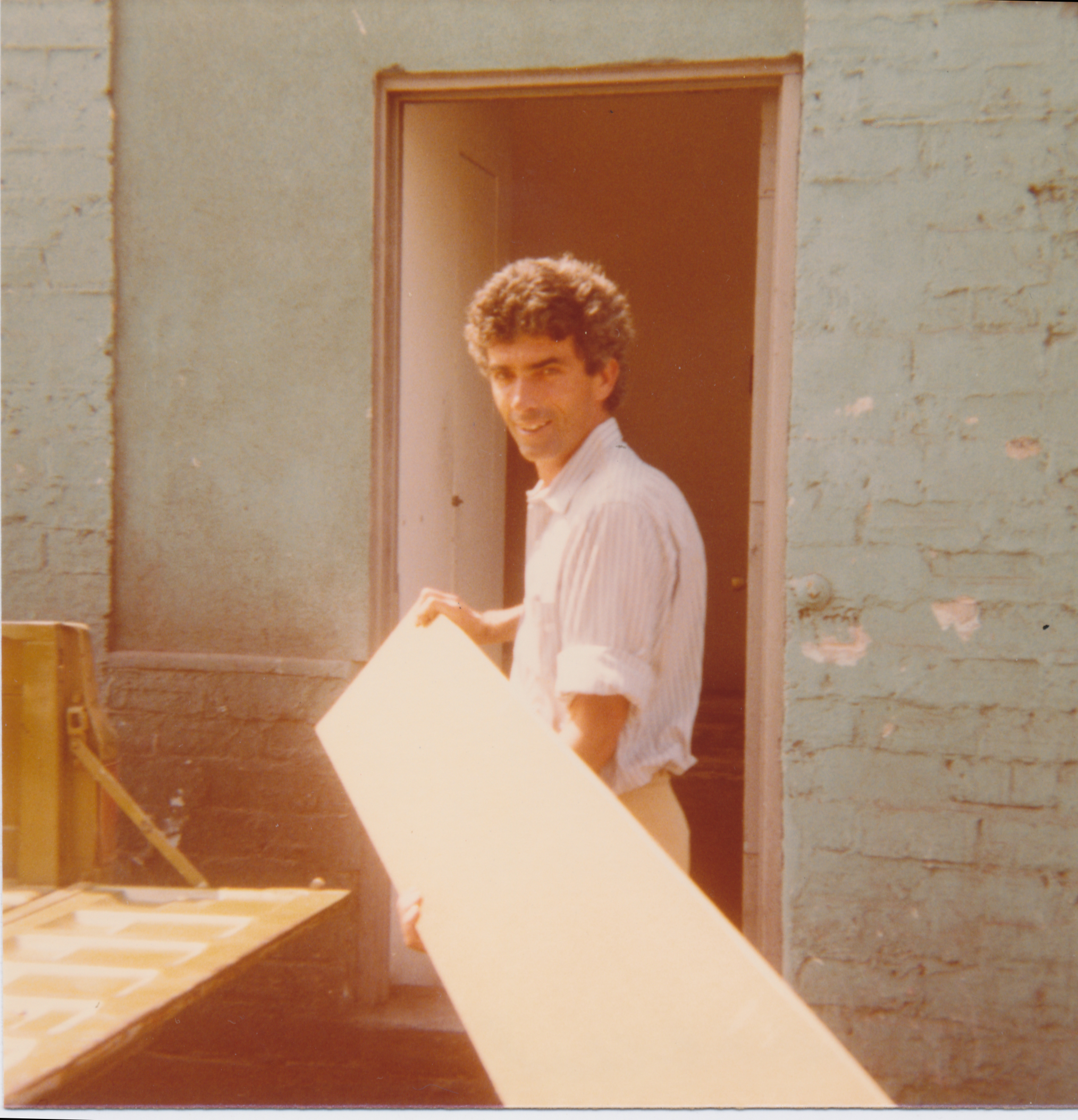 Peter Alexander with resin works in his Westminster studio, circa mid-70s. Image courtesy of Joan Agajanian Quinn