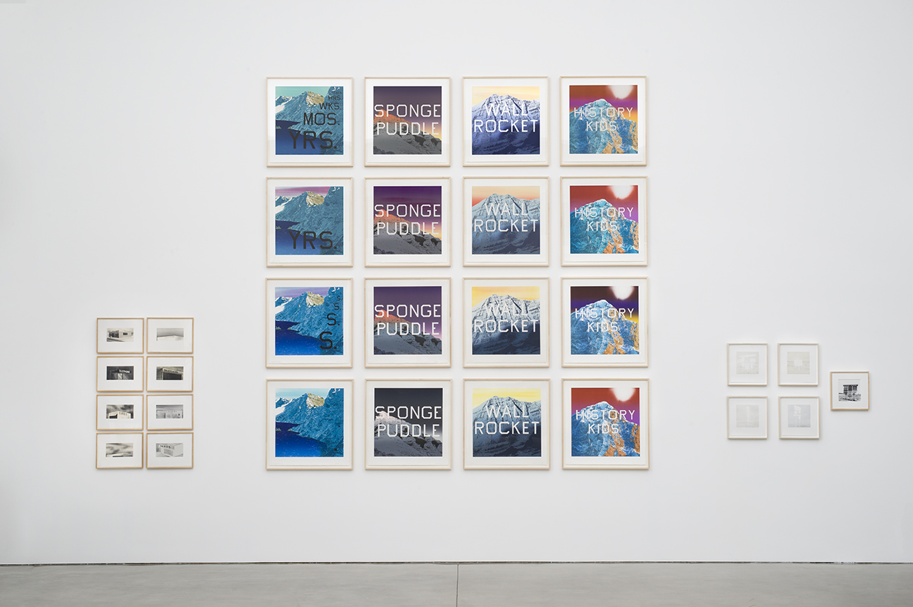 All artworks © Ed Ruscha. Courtesy of the artist and Gagosian Gallery. Photography: Jeff McLane.