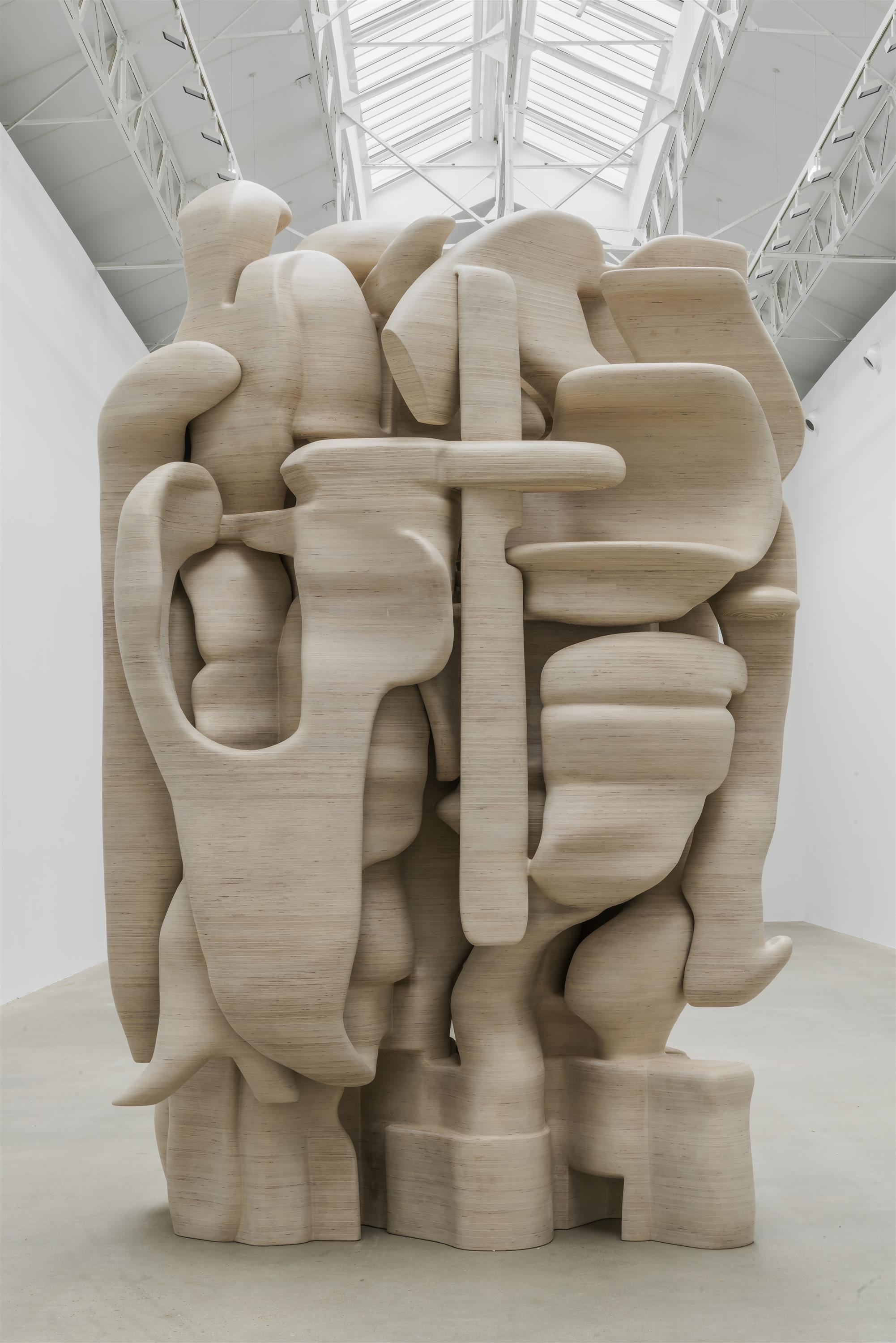 Tony Cragg  Lost in Thought  2012 50x220x300 cm Wood Photo:Charles Duprat
