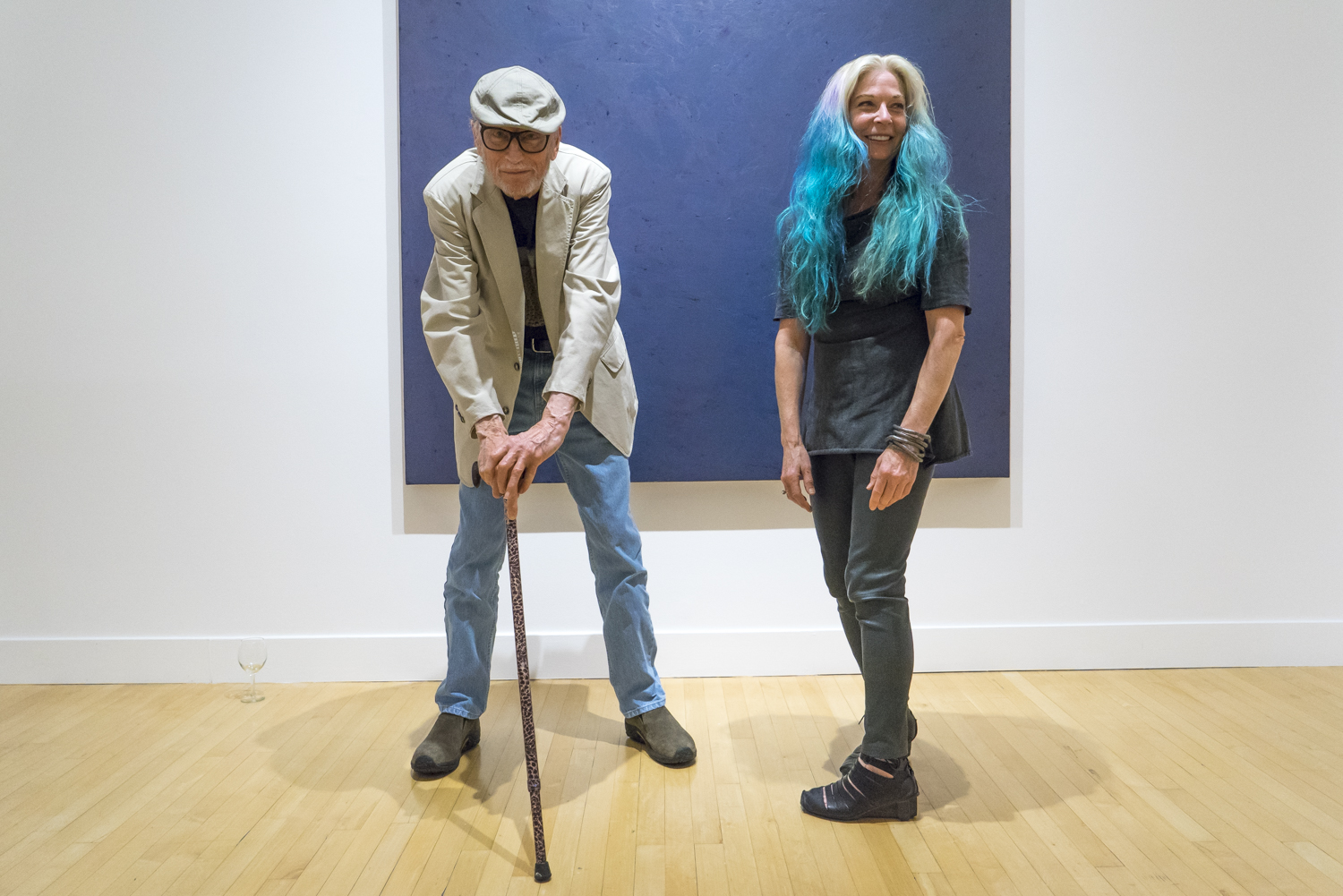 David Simpson and Cheryl Haines at the opening reception of Now & Then, Haines Gallery, San Francisco, California, September 8, 2016.  Photograph © 2016 Nina Dietzel